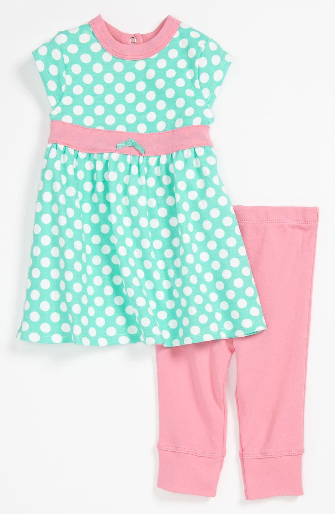 Alternate Image 1 Selected - Offspring Dress & Leggings (Baby)