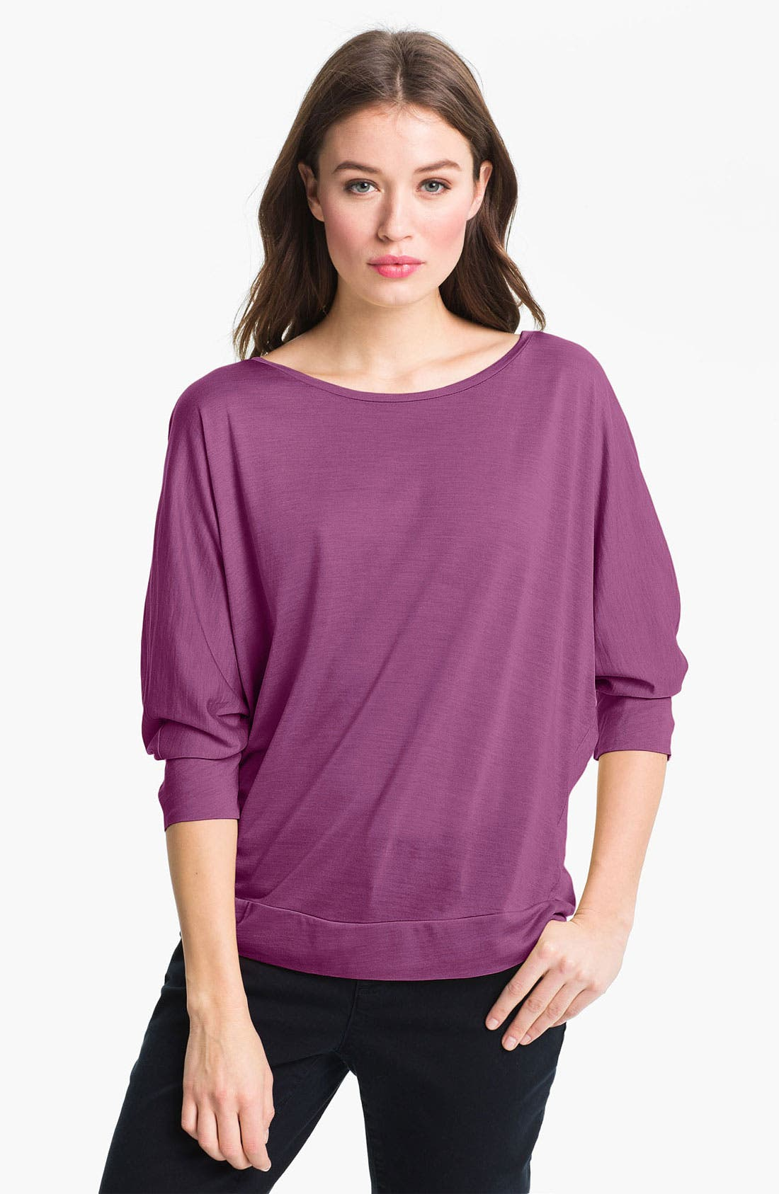 Main Image - Eileen Fisher Ballet Neck Dolman Sleeve Top (Online Only)