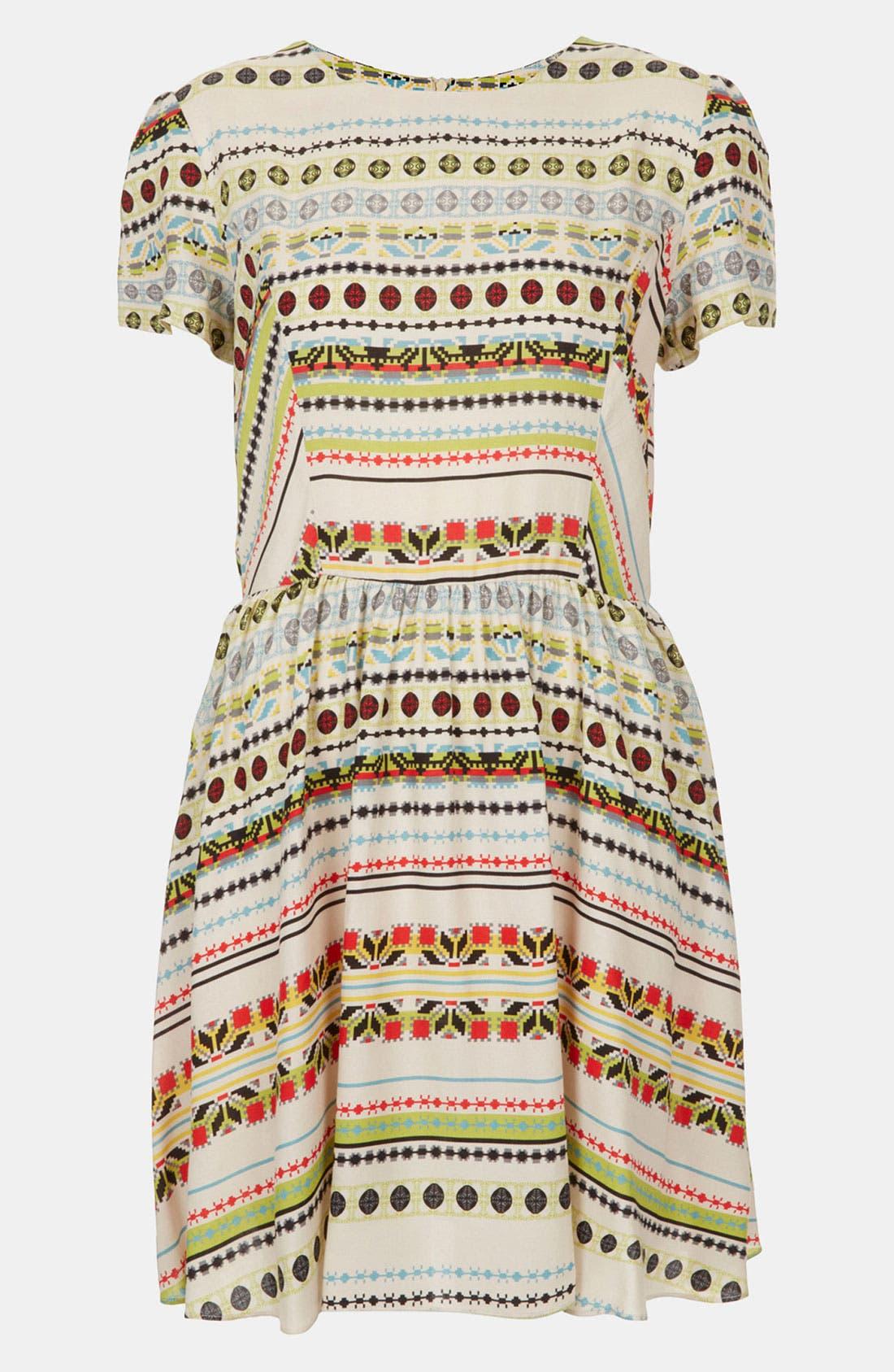 Alternate Image 1 Selected - Topshop 'Florence' Southwest Stripe Dress