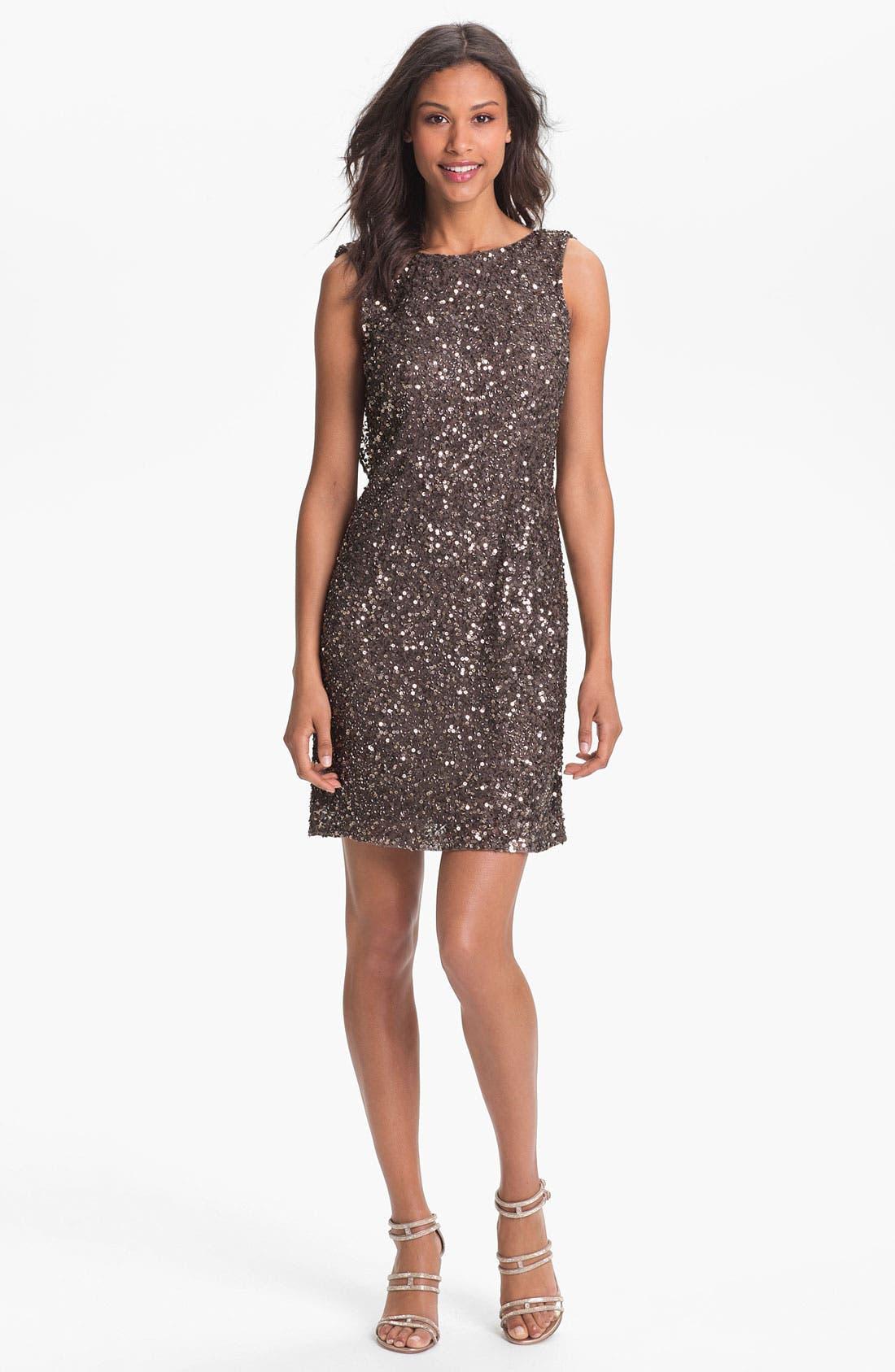 Main Image - Pisarro Nights Drape Back Sequin Dress