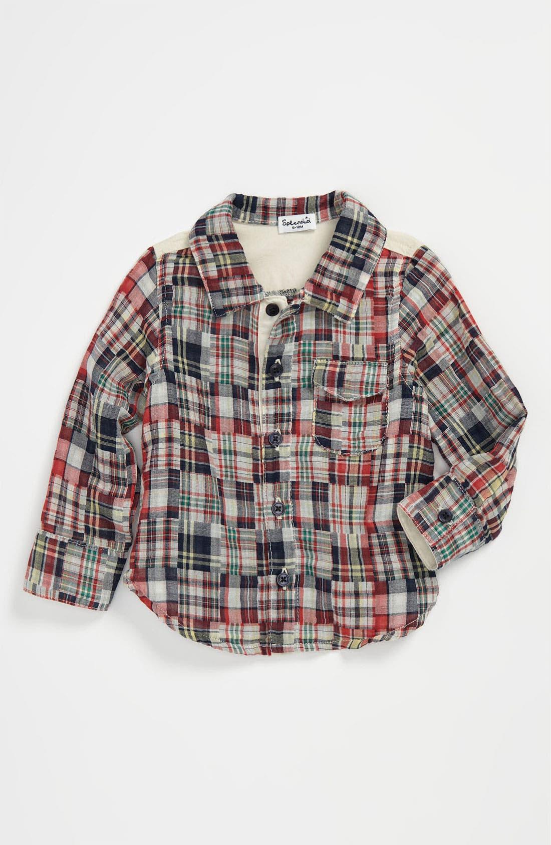 Main Image - Splendid Patchwork Button Down Shirt (Baby)