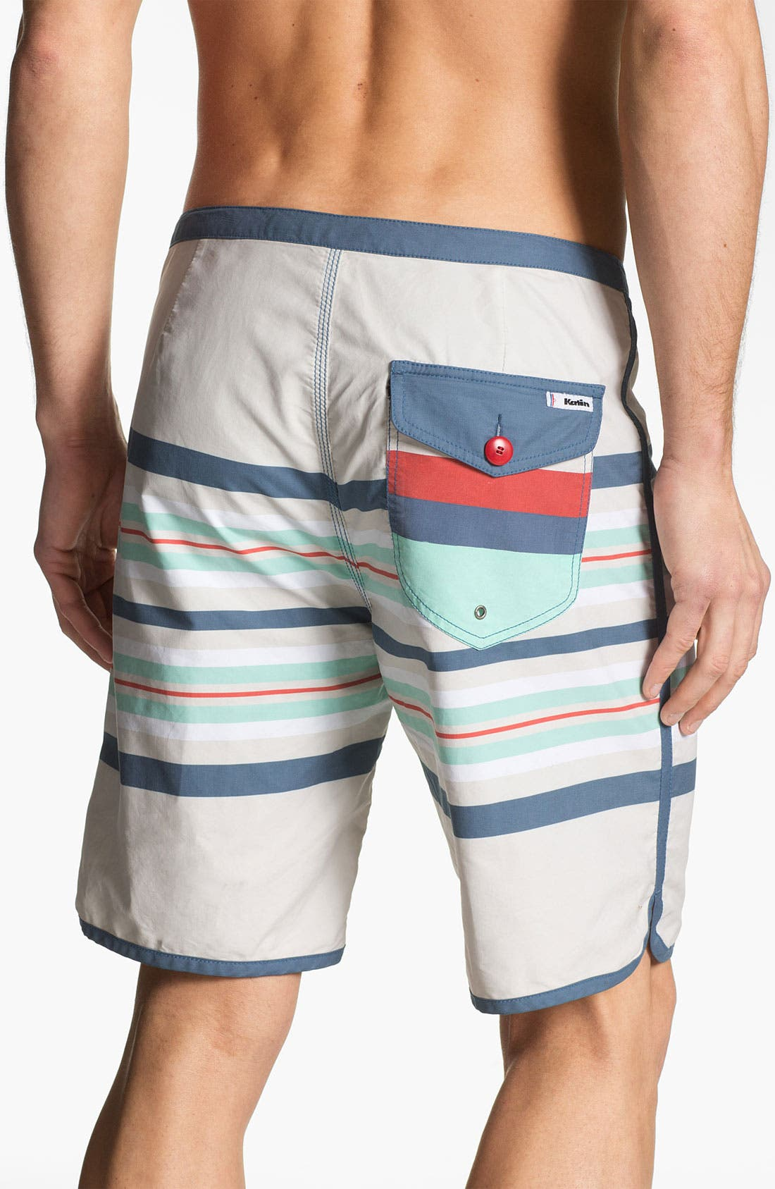 Alternate Image 2  - Katin 'South Pacific' Stripe Print Board Shorts