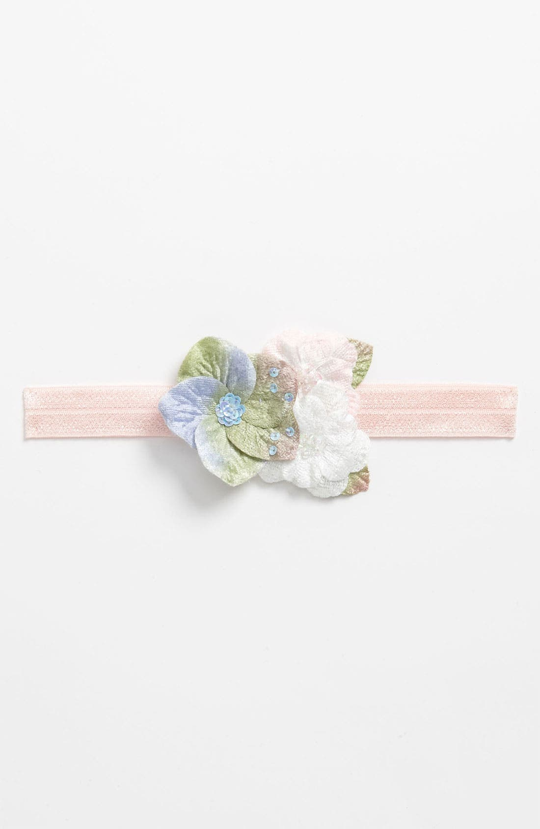 Main Image - PLH Bows & Laces Floral Headband (Baby Girls & Toddler Girls)
