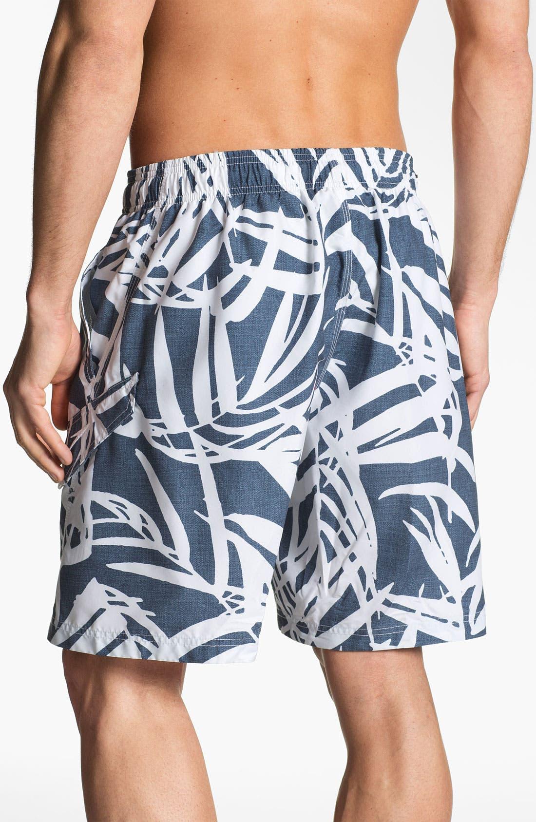Alternate Image 2  - Speedo® Palm Print Swim Shorts