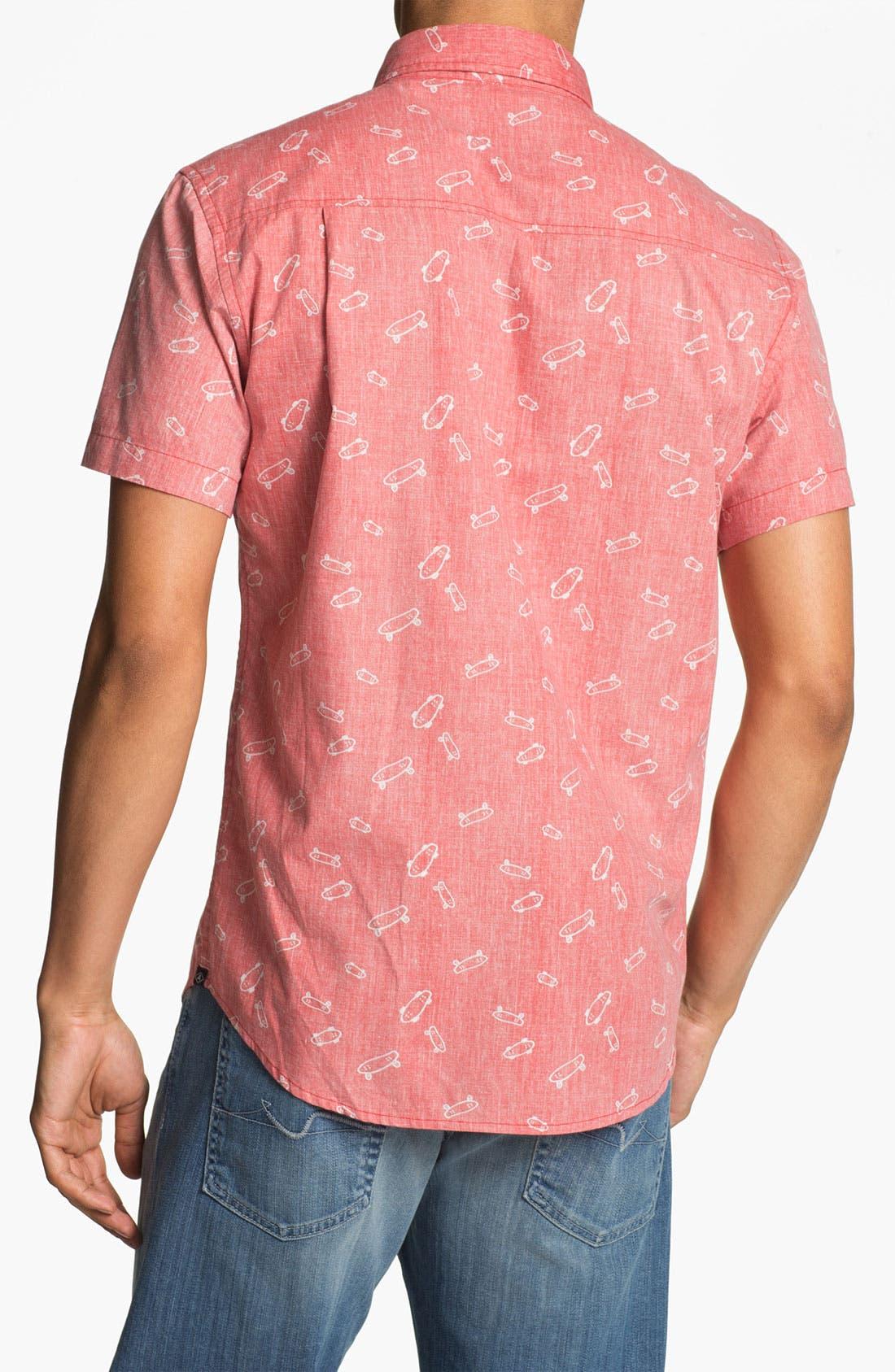 Alternate Image 3  - Altru Skateboard Print Woven Shirt