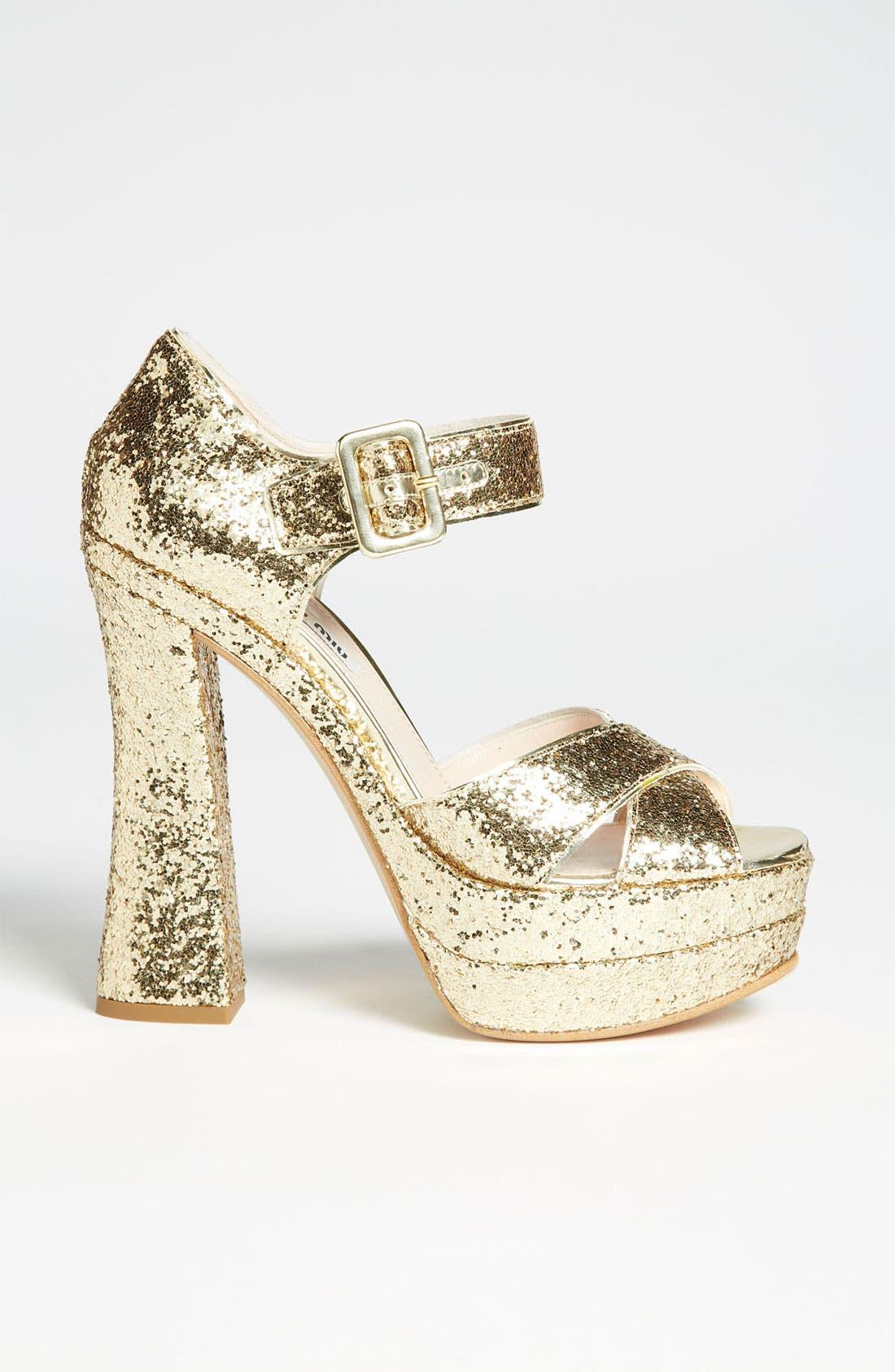 Alternate Image 4  - Miu Miu Peep Toe Platform Sandal