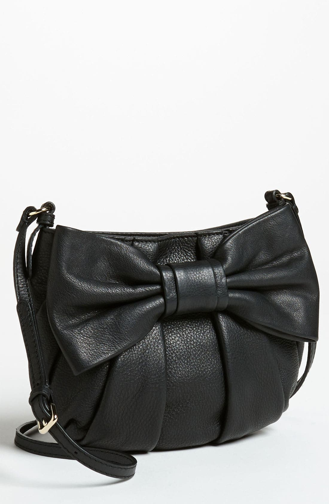 Main Image - RED Valentino 'Bow - Small' Leather Crossbody Bag