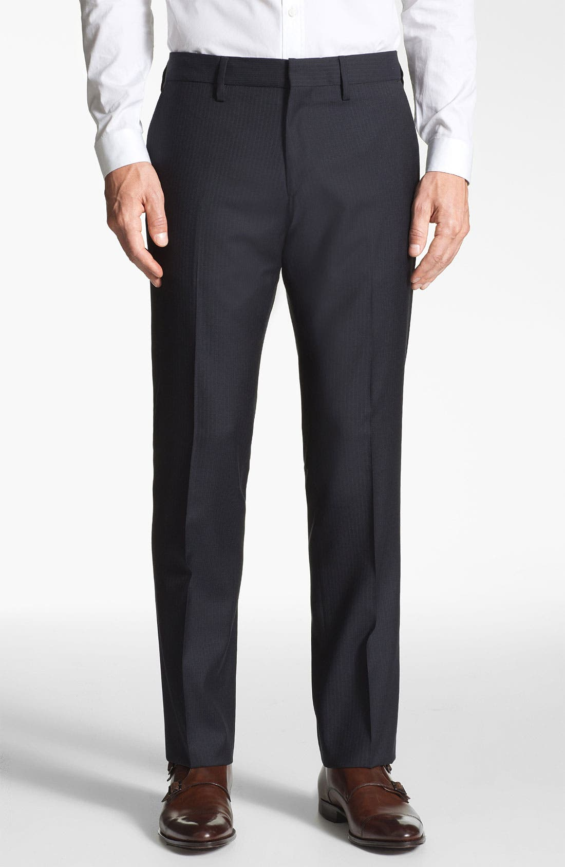 Alternate Image 1 Selected - BOSS Black 'Crigan' Wool Pants