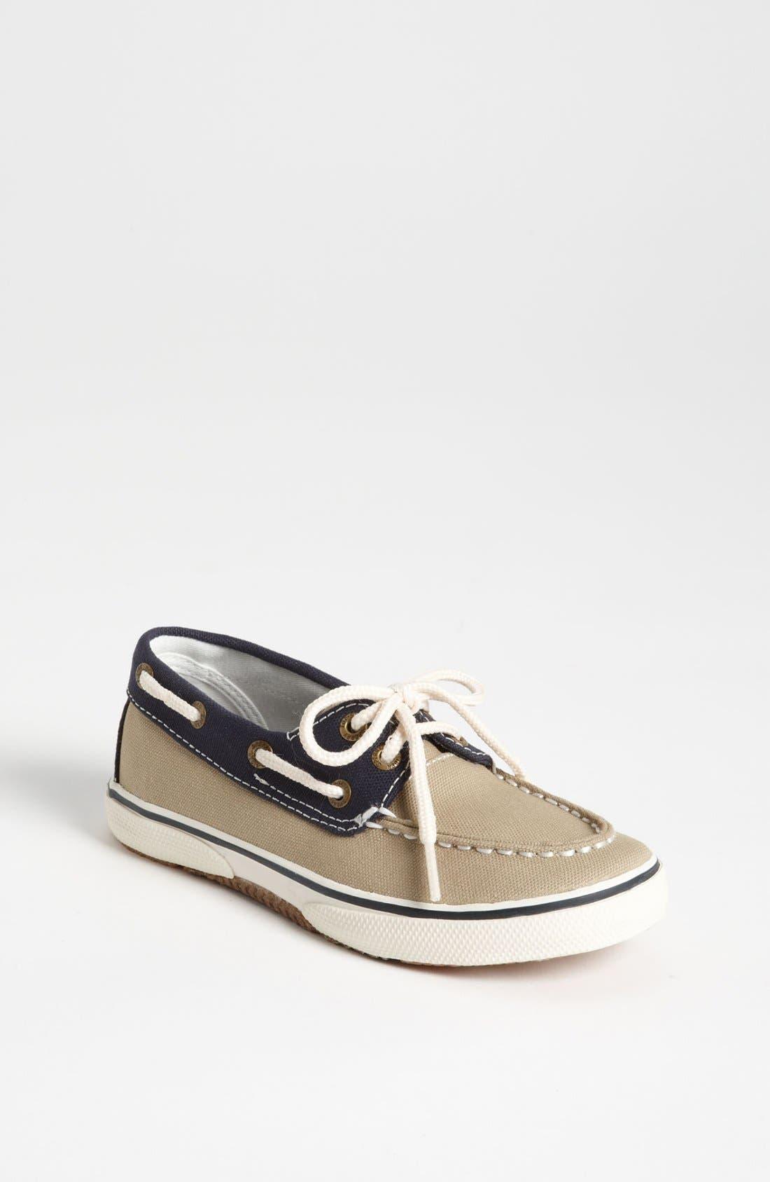 Main Image - Sperry Top-Sider® 'Halyard' Boat Shoe (Walker, Toddler, Little Kid & Big Kid)
