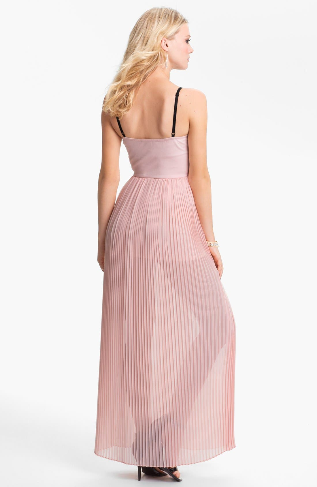 Alternate Image 2  - BLAQUE LABEL Pleated Chiffon Maxi Dress