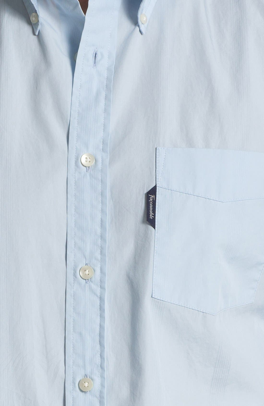 Alternate Image 3  - Façonnable Club Fit Cambric Sport Shirt