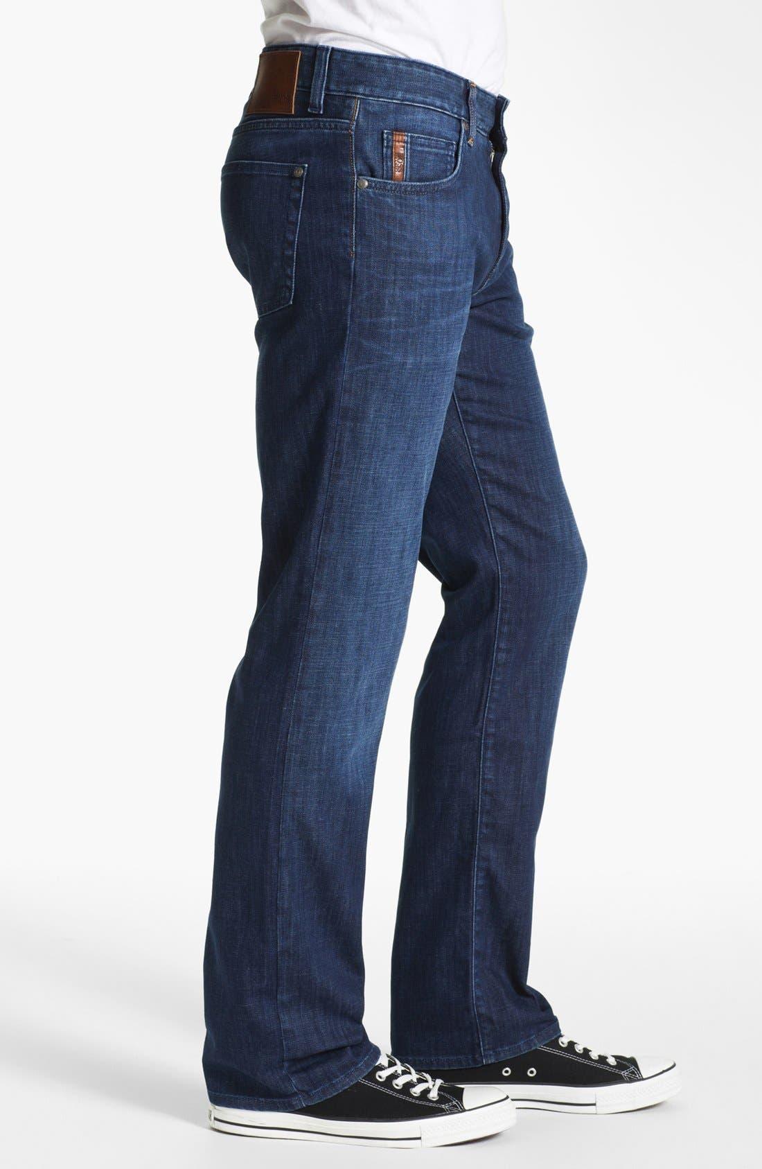 Alternate Image 3  - BOSS Black 'Kansas' Regular Fit Jeans (Blue Authentic)