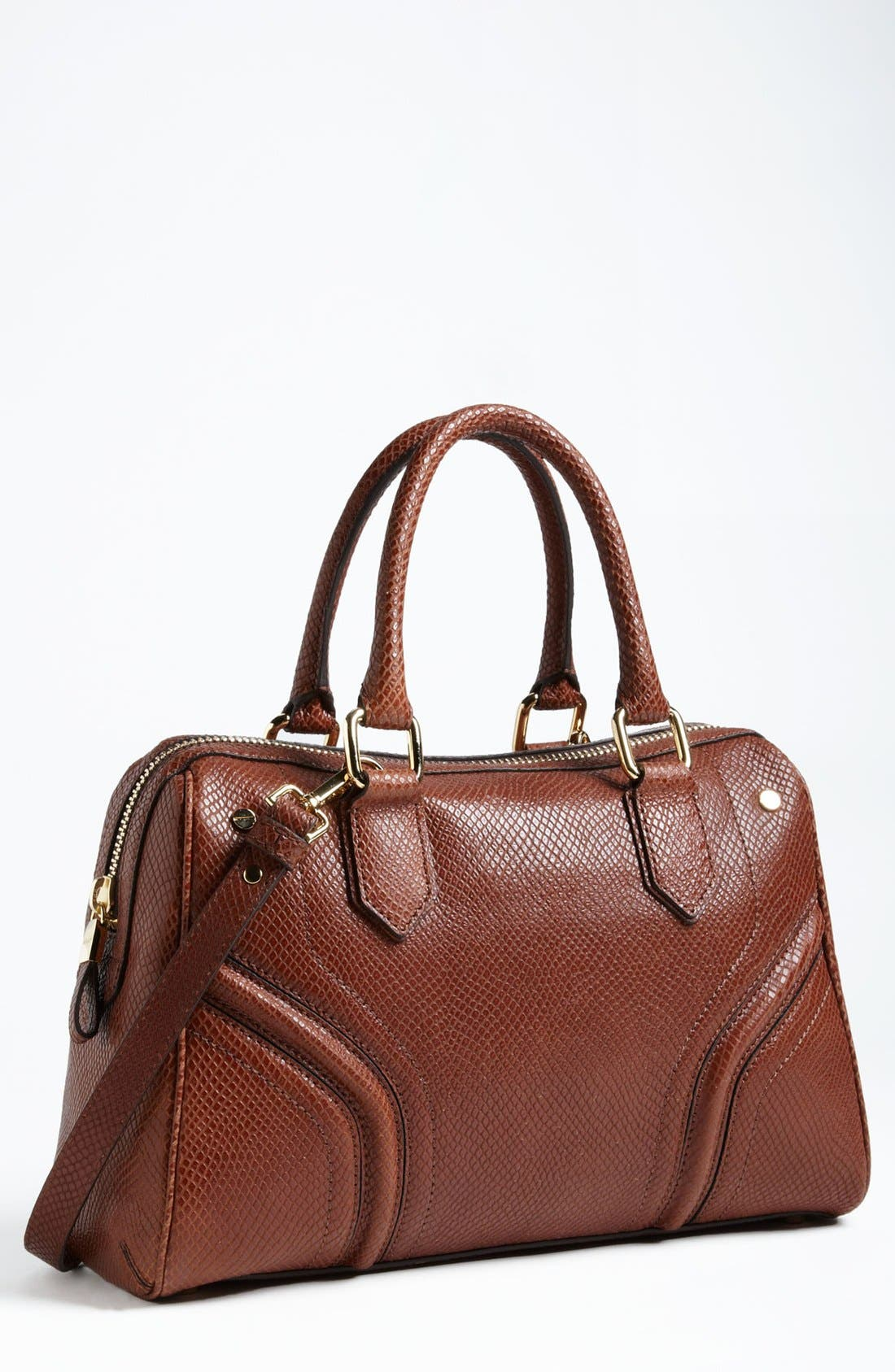 Main Image - Milly 'Zoey' Snake Embossed Leather Satchel