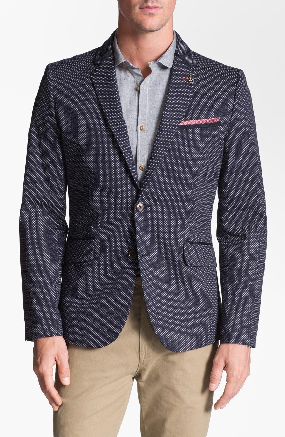 Alternate Image 1 Selected - Ted Baker London 'Zabjak' Cotton Blend Blazer