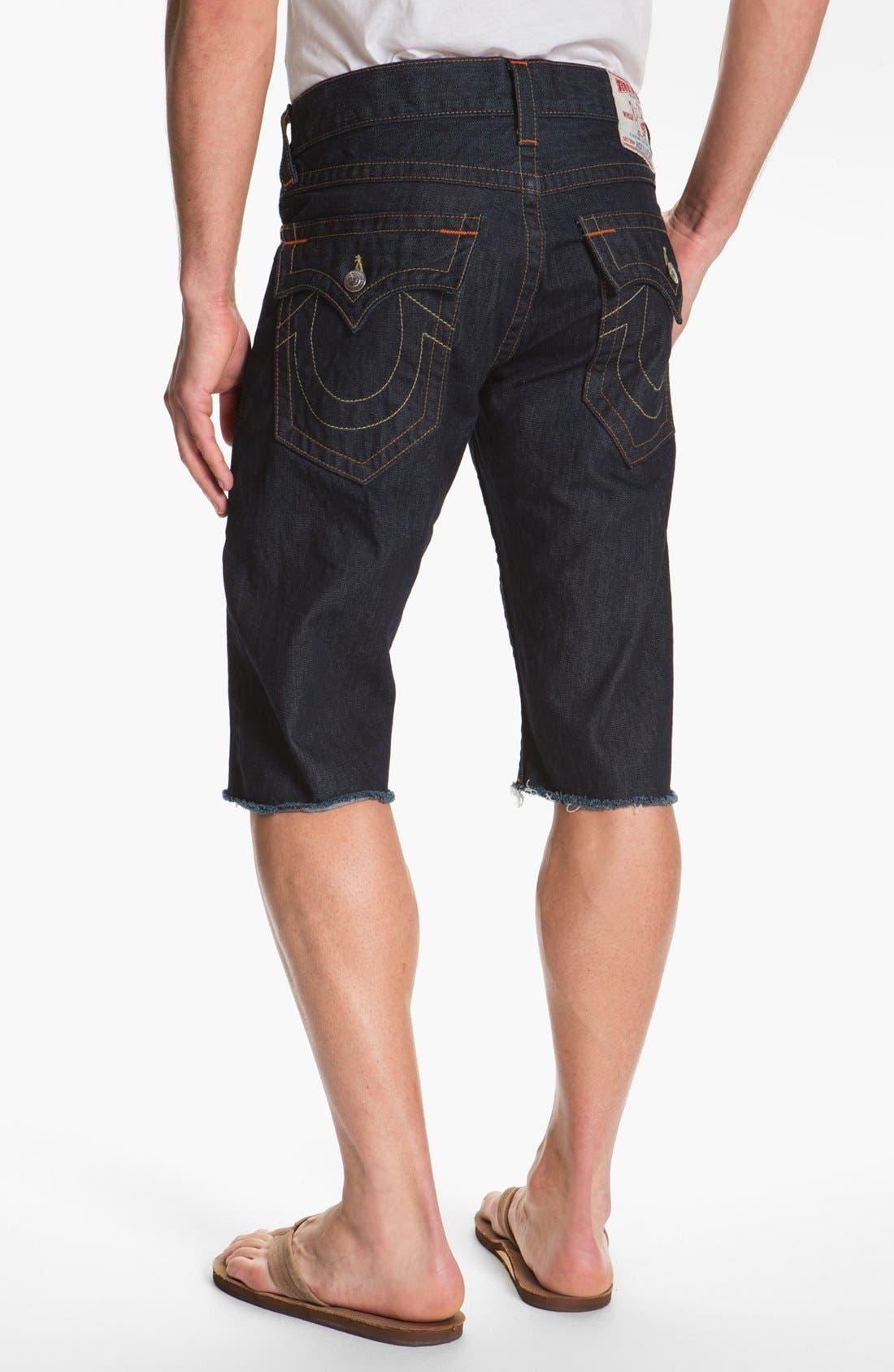 Alternate Image 1 Selected - True Religion Brand Jeans 'Ricky' Cut Off Denim Shorts