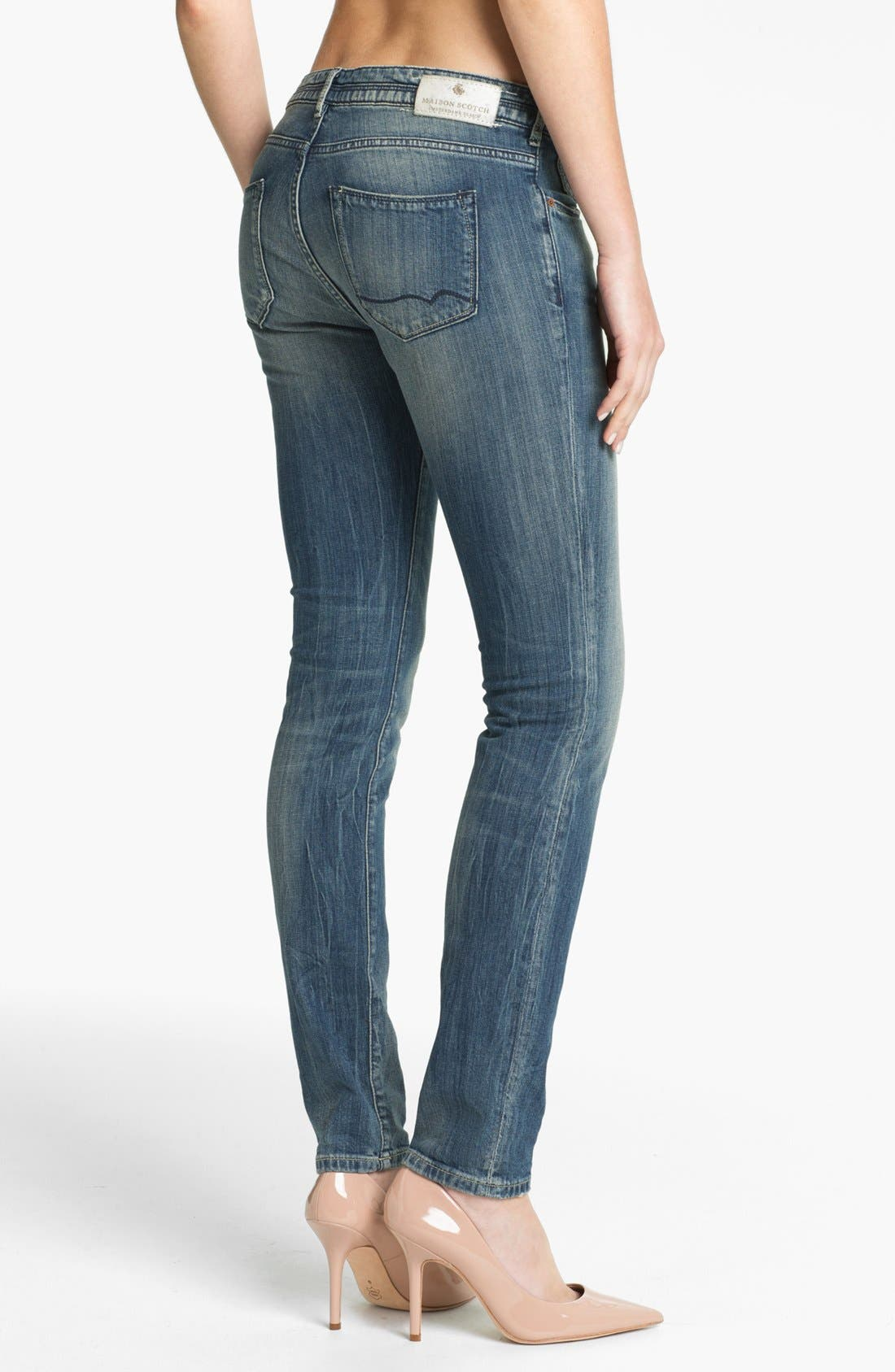 Alternate Image 2  - Maison Scotch 'La Parisienne' Bleach Washed Skinny Jeans (Bleutiful)