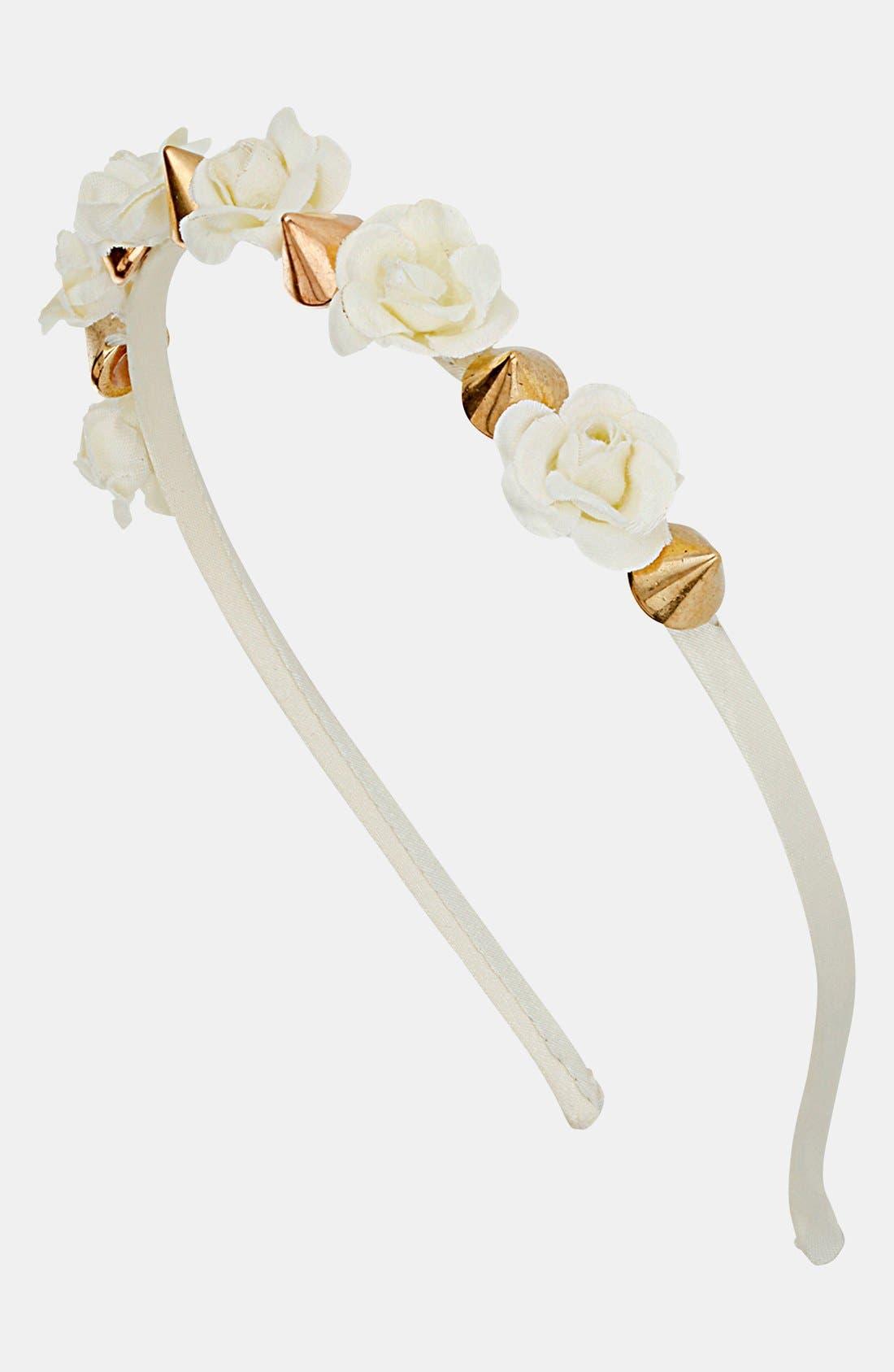 Alternate Image 1 Selected - Topshop Mini Flower & Spike Headband