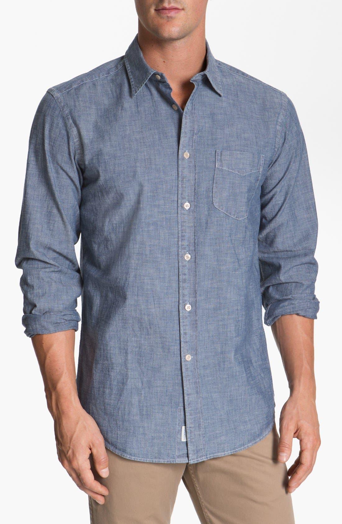 Alternate Image 1 Selected - Façonnable Tailored Denim Regular Fit Chambray Sport Shirt