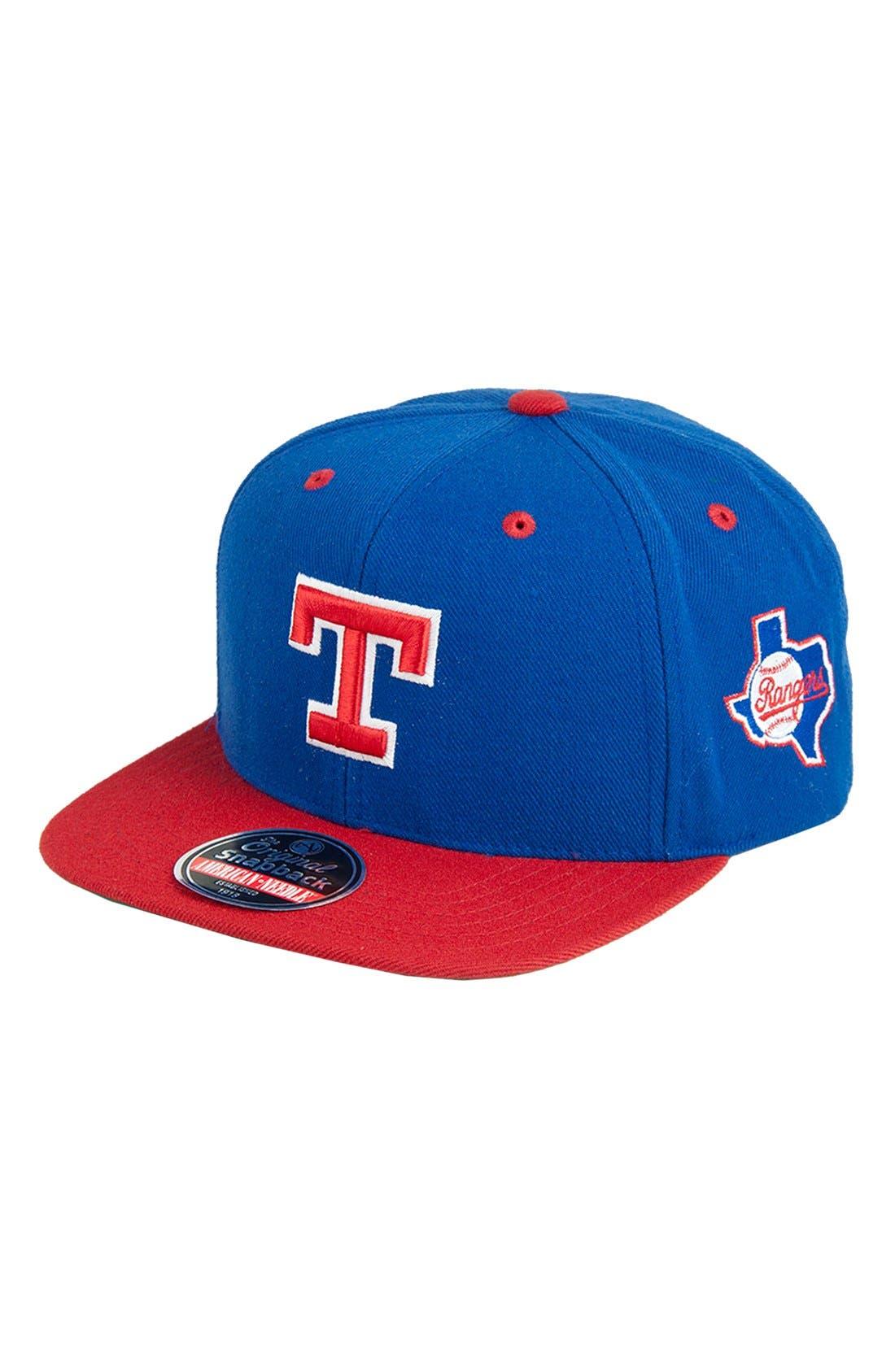 Alternate Image 1 Selected - American Needle 'Texas Rangers - Blockhead' Snapback Baseball Cap