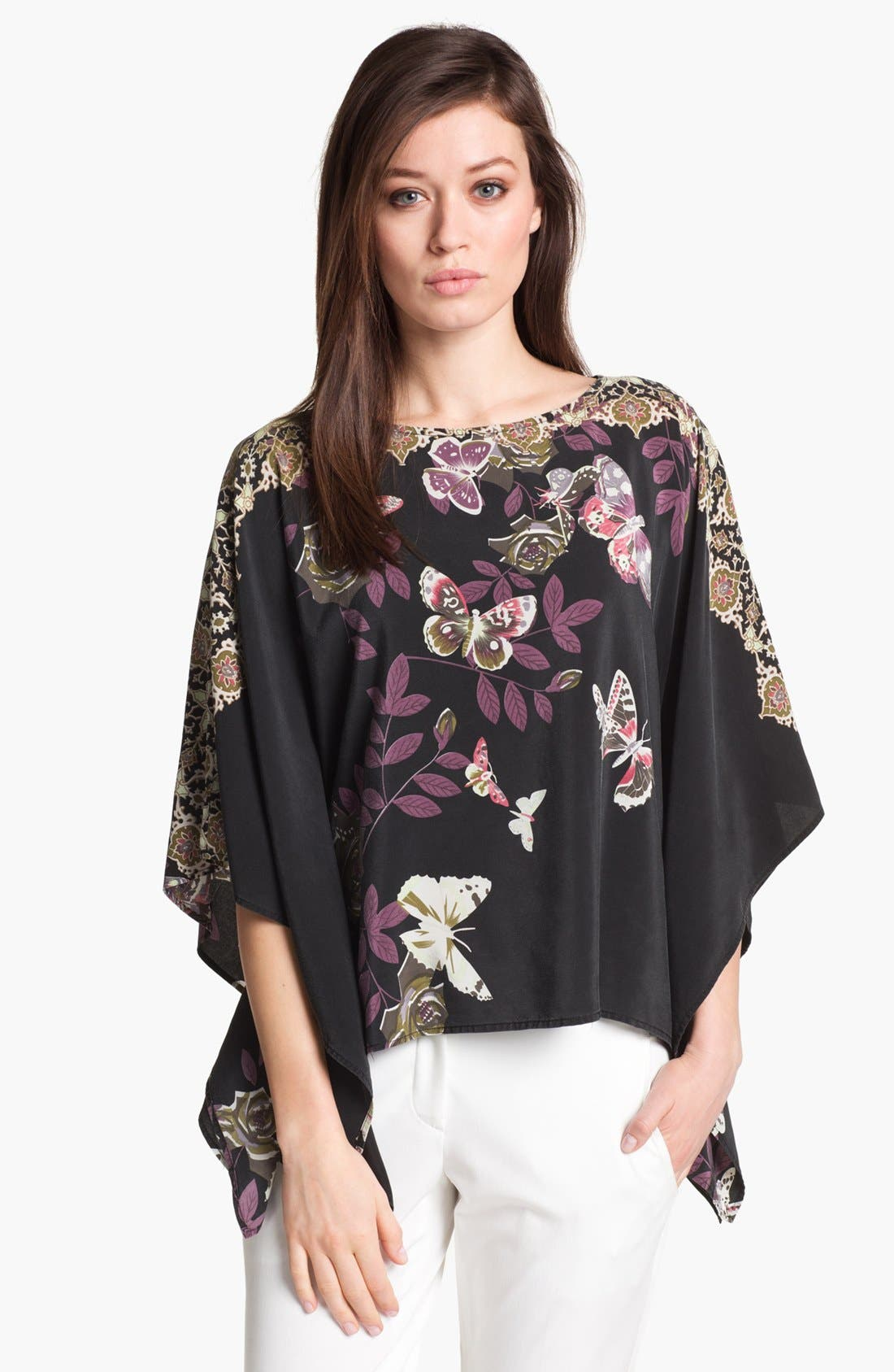 Alternate Image 1 Selected - Citron Floral Print Silk Tunic