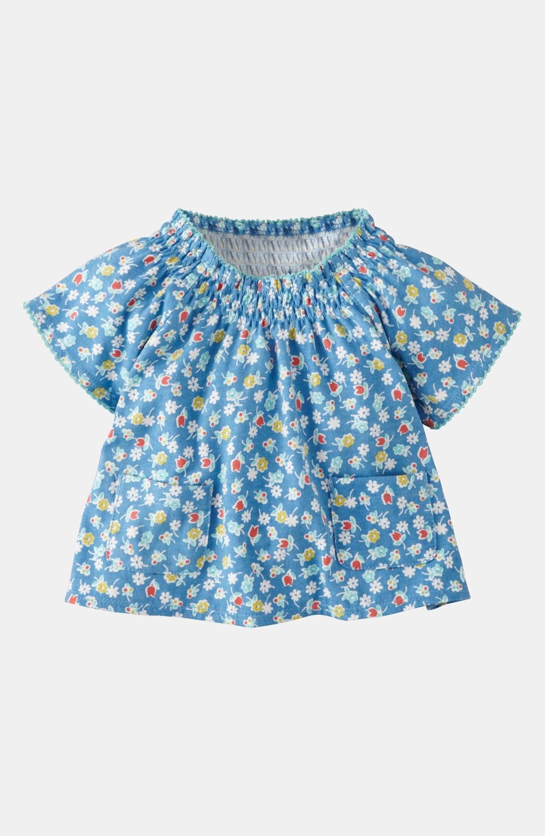Main Image - Mini Boden Ditsy Print Top (Baby)