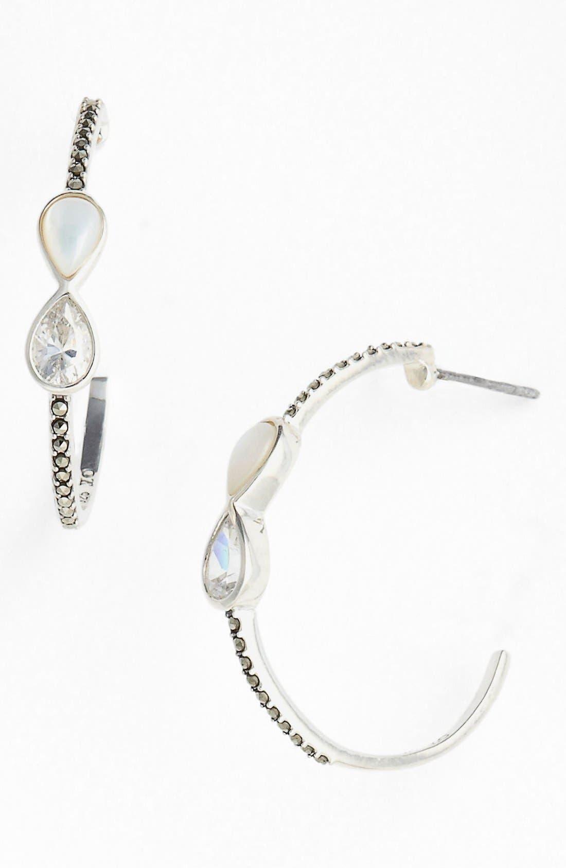 Alternate Image 1 Selected - Judith Jack Station Hoop Earrings