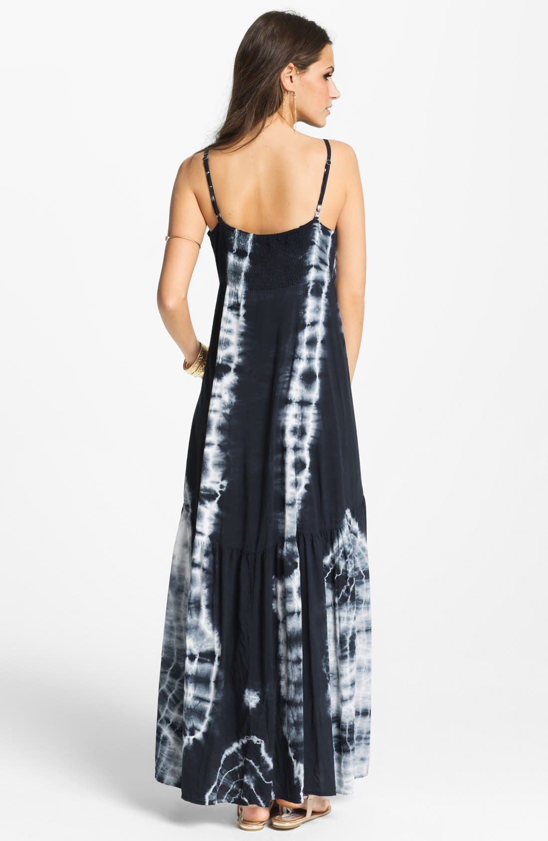 Alternate Image 2  - Mimi Chica Tie Dye Vintage Maxi Dress (Juniors) (Online Only)