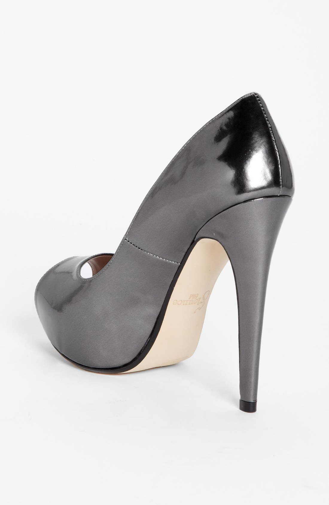 Alternate Image 2  - Flounce 'Ivie' Peep Toe Platform Pump