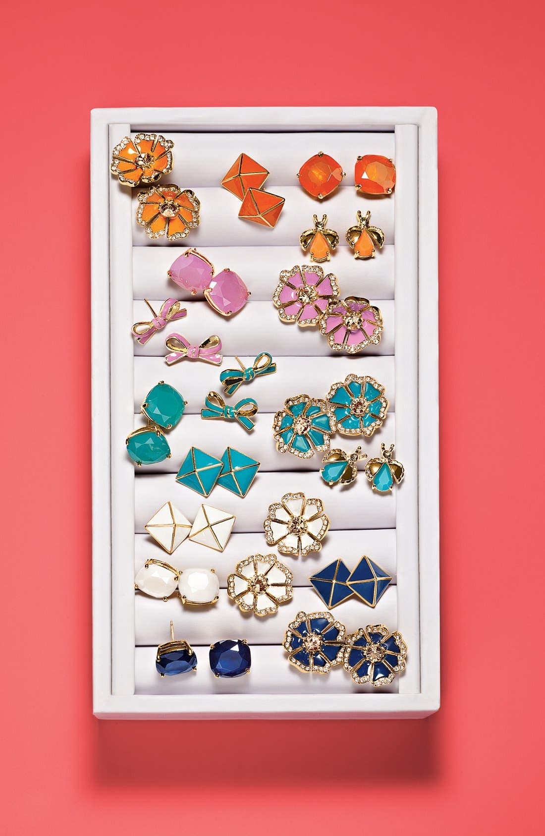 Alternate Image 3  - kate spade new york 'skinny mini' bow stud earrings