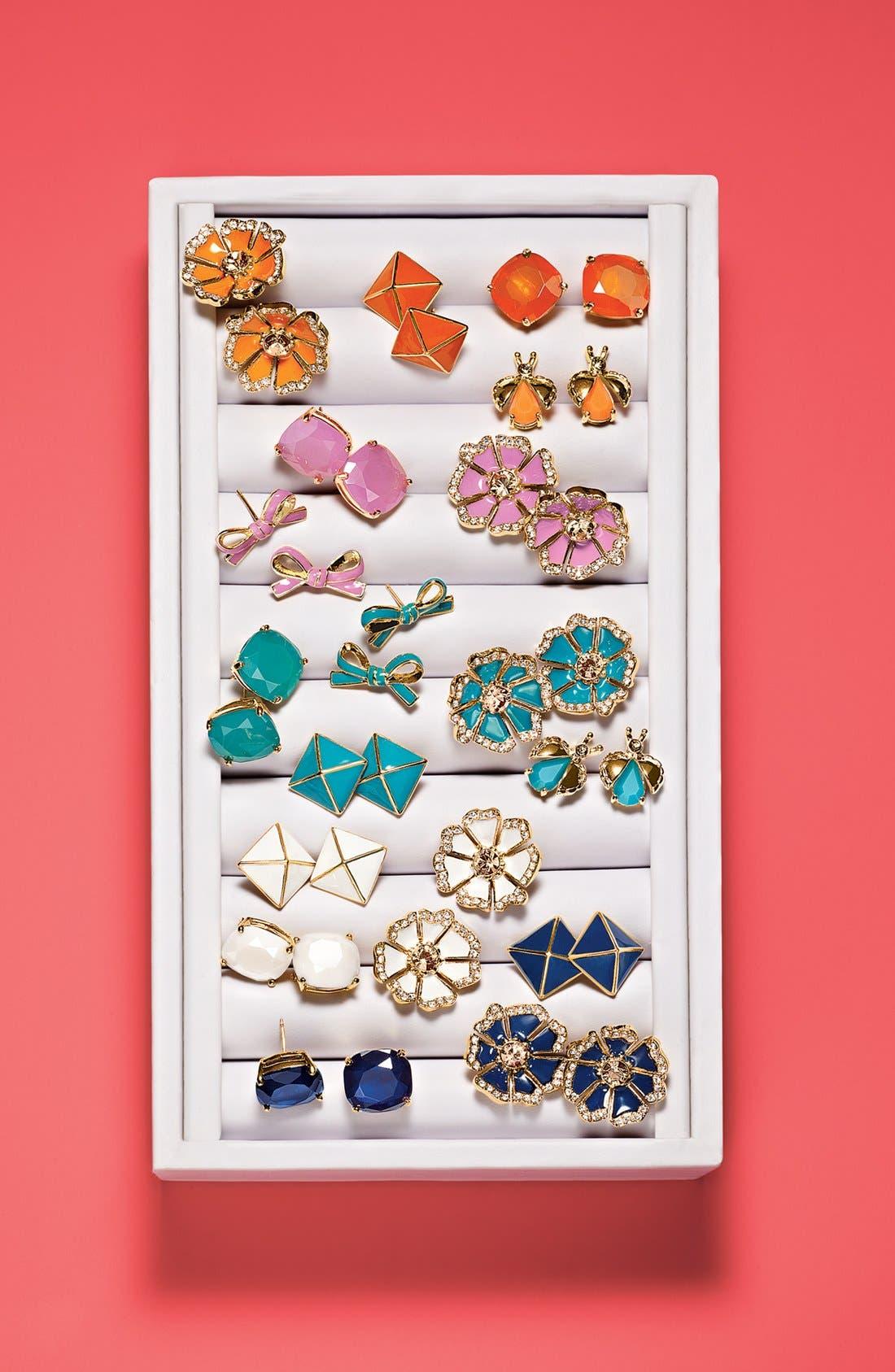 Alternate Image 3  - kate spade new york 'skinny mini' bow stud earrings