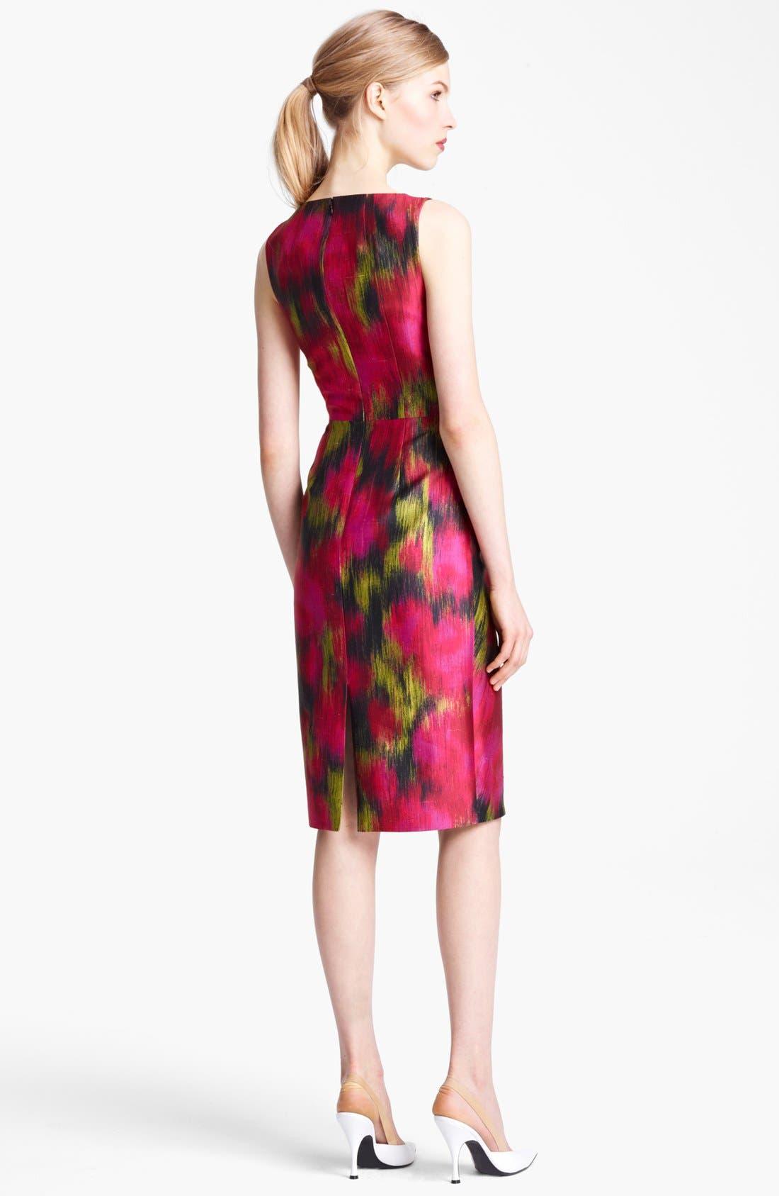 Alternate Image 2  - Michael Kors Zinnia Print Shantung Dress