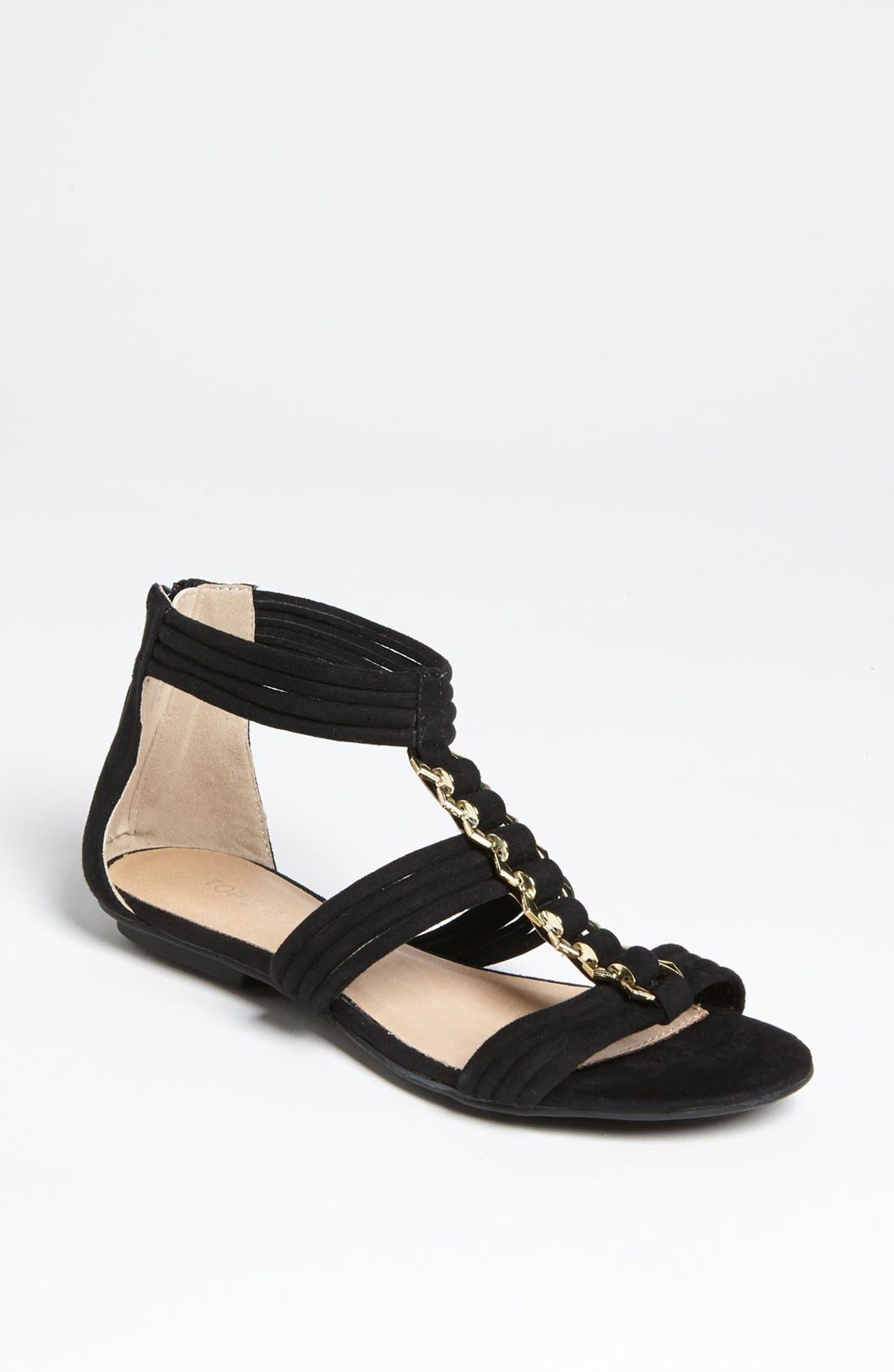 Main Image - Topshop 'Helena' Metal Trim Sandal