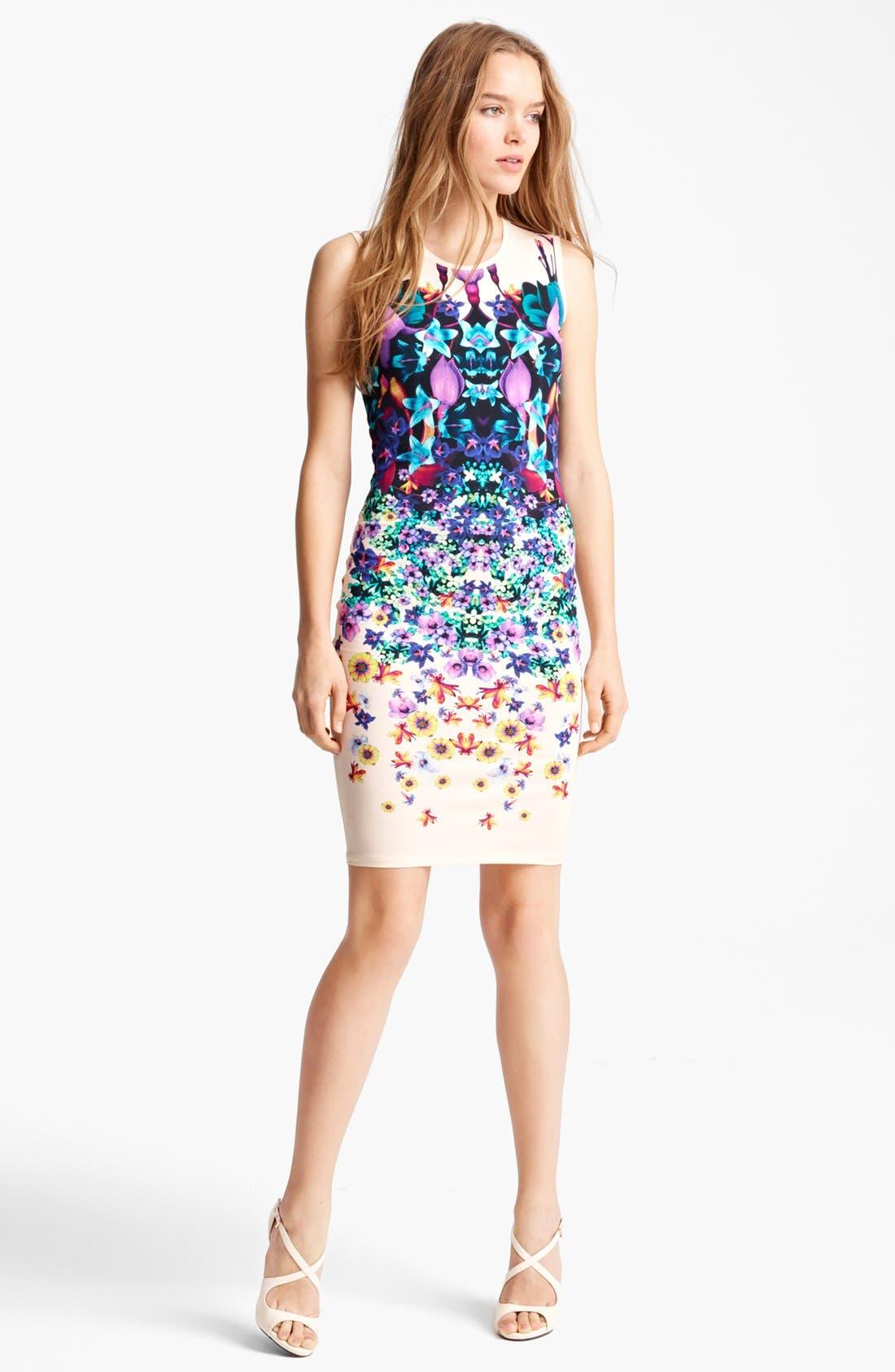 Main Image - Roberto Cavalli Bloom Print Jersey Dress