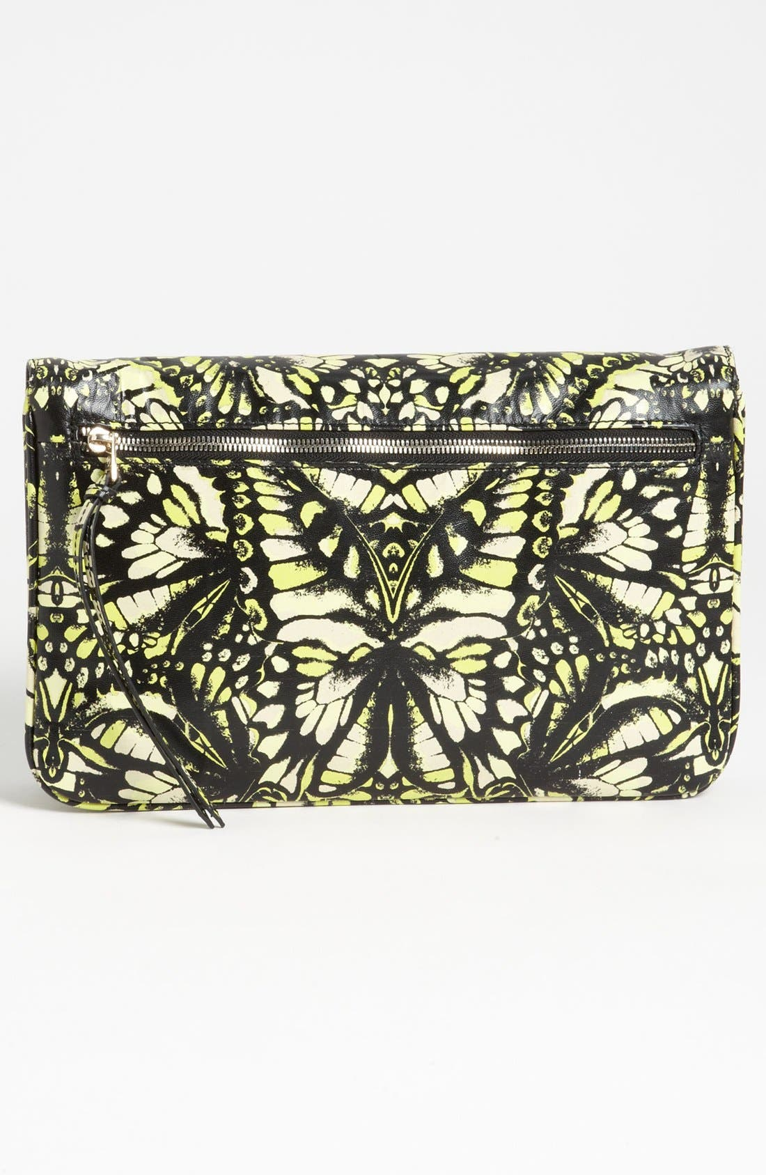 Alternate Image 4  - McQ by Alexander McQueen 'Metal Plate' Print Leather Clutch