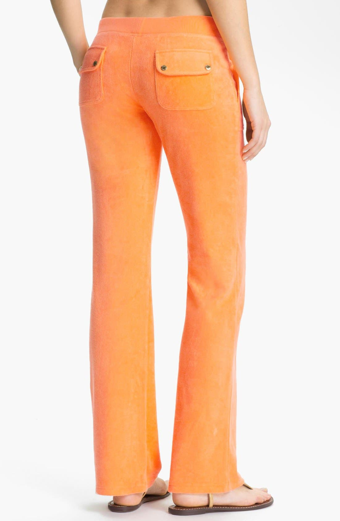 Alternate Image 2  - Juicy Couture Bootcut Terry Pants