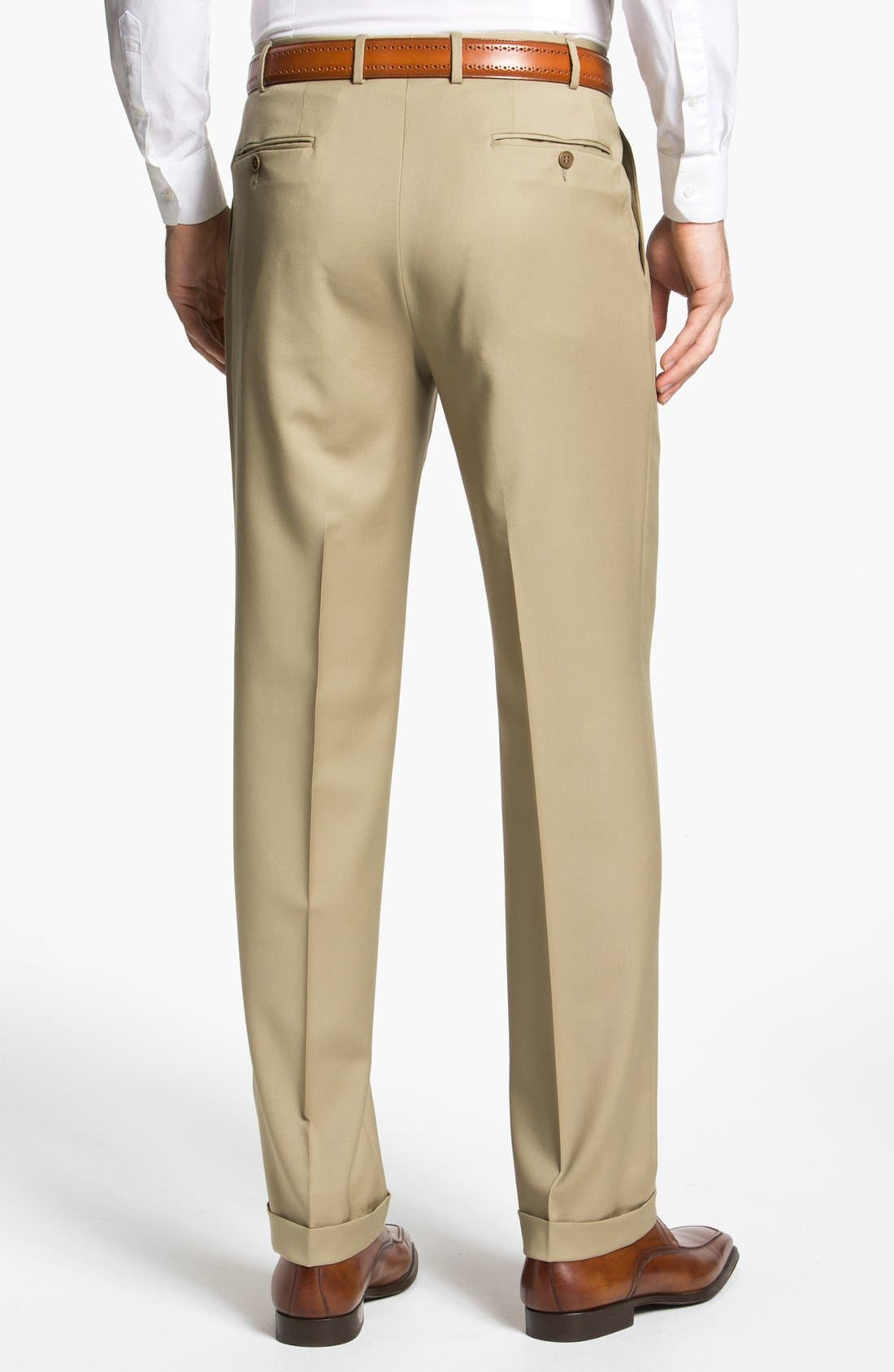 Pleated Trousers,                             Alternate thumbnail 2, color,                             Taupe