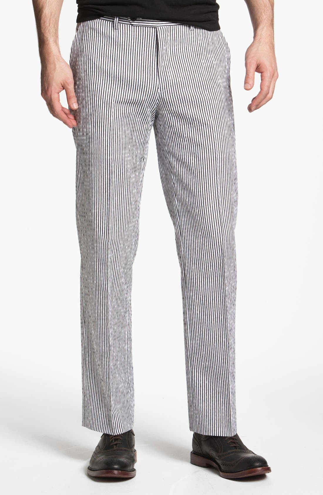 Alternate Image 1 Selected - John Varvatos Star USA Red Label 'Petro' Striped Trousers