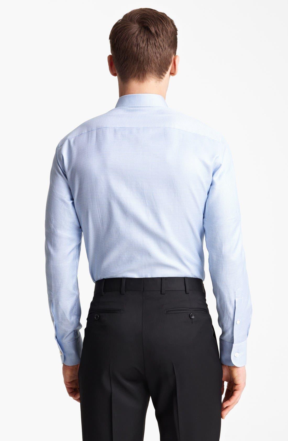 Alternate Image 2  - Z Zegna Micro Houndstooth Cotton Dress Shirt