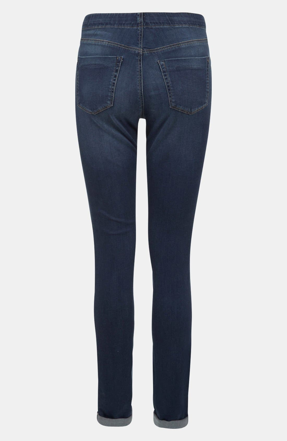 Alternate Image 2  - Topshop 'Leigh' Maternity Skinny Jeans (Short)