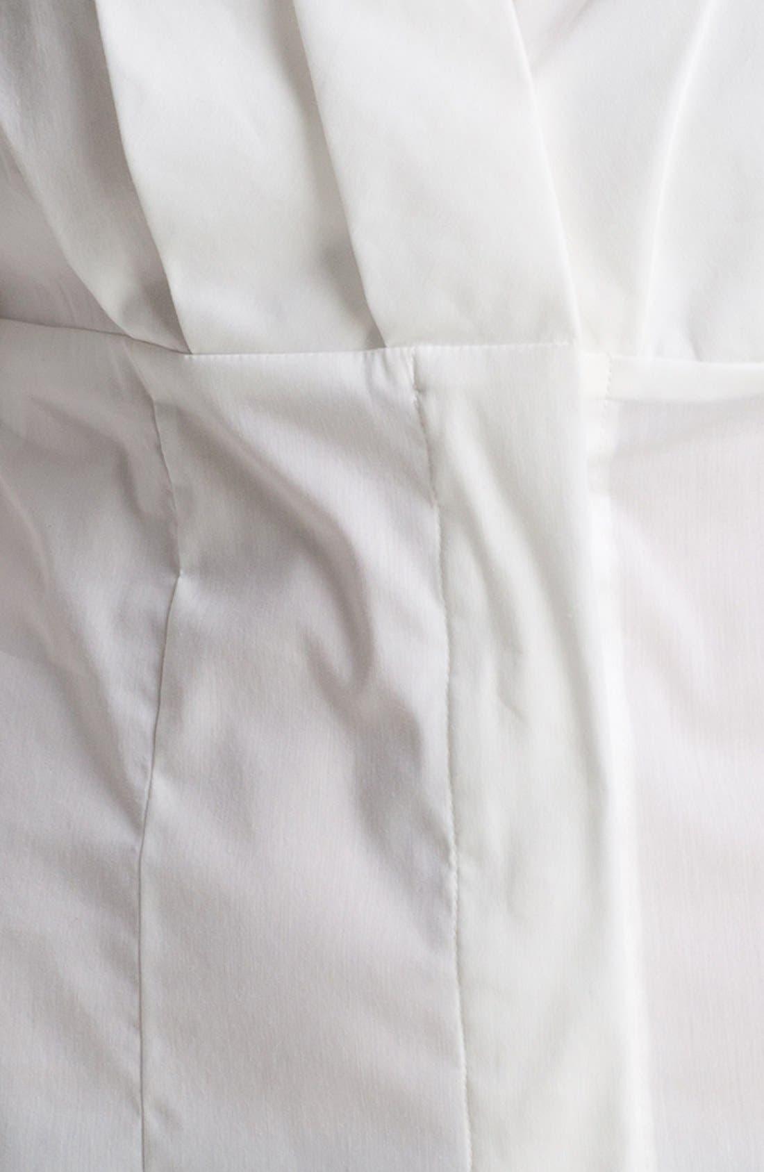 Alternate Image 3  - Anne Klein Pleated V-Neck Shirt (Petite)