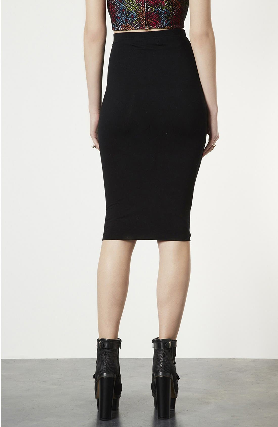 Alternate Image 2  - Topshop Knee-Length Tube Skirt