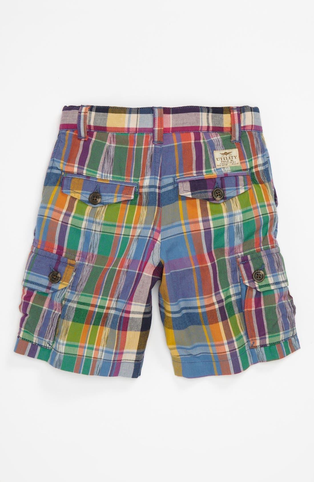 Alternate Image 2  - Ralph Lauren Plaid Shorts (Toddler)