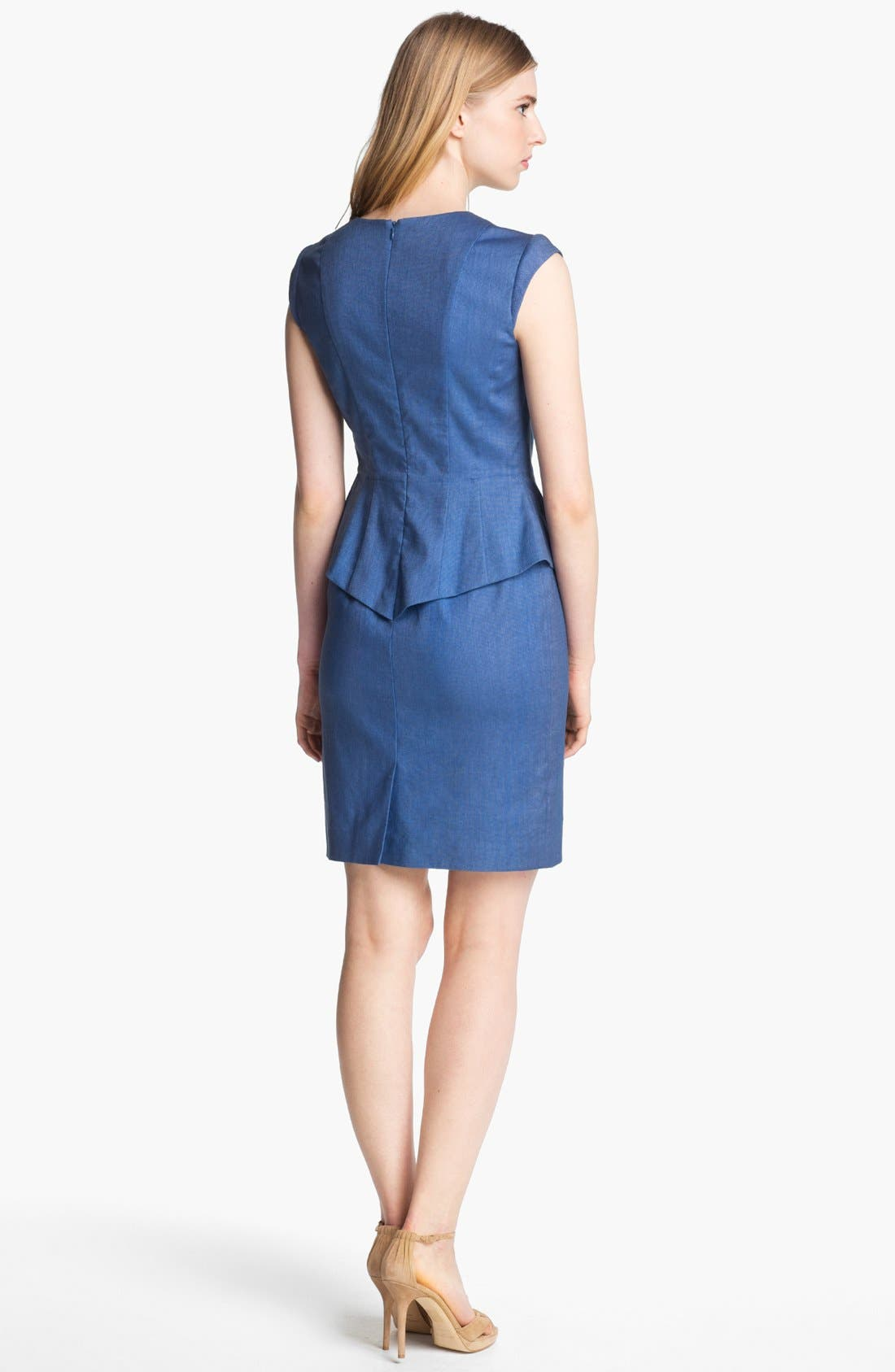 Alternate Image 2  - Mcginn Fitted Peplum Dress