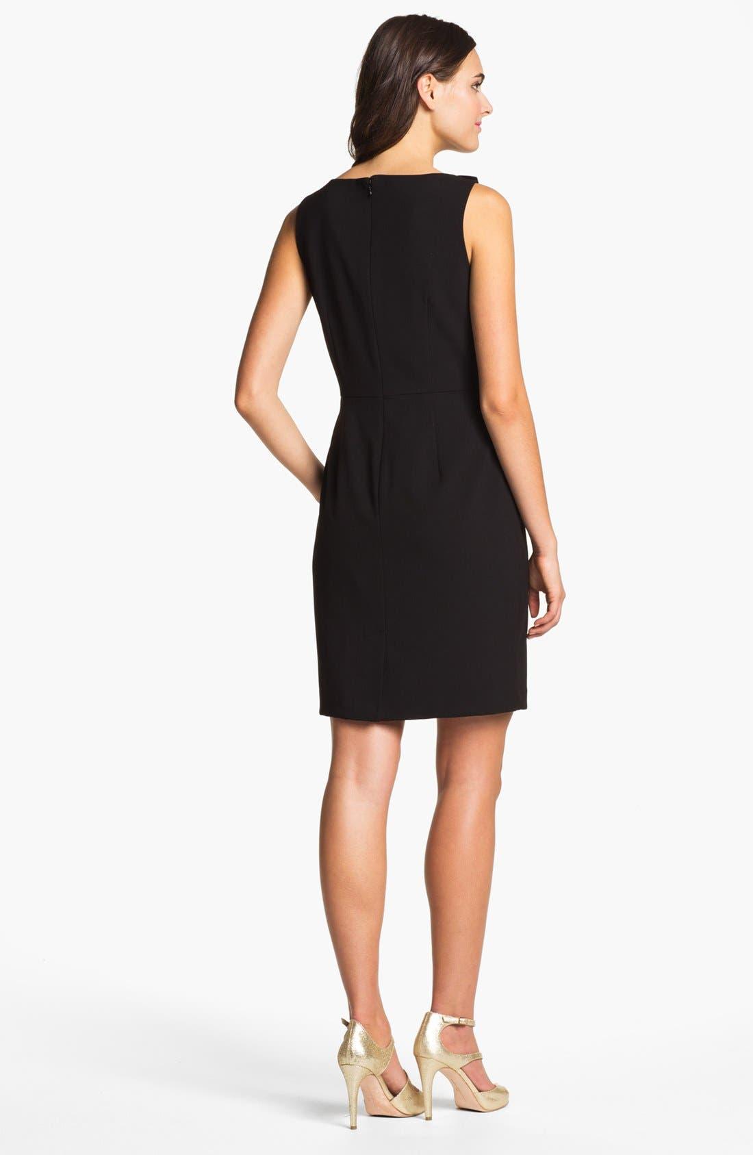 Alternate Image 2  - Calvin Klein Rosette Detail Sheath Dress