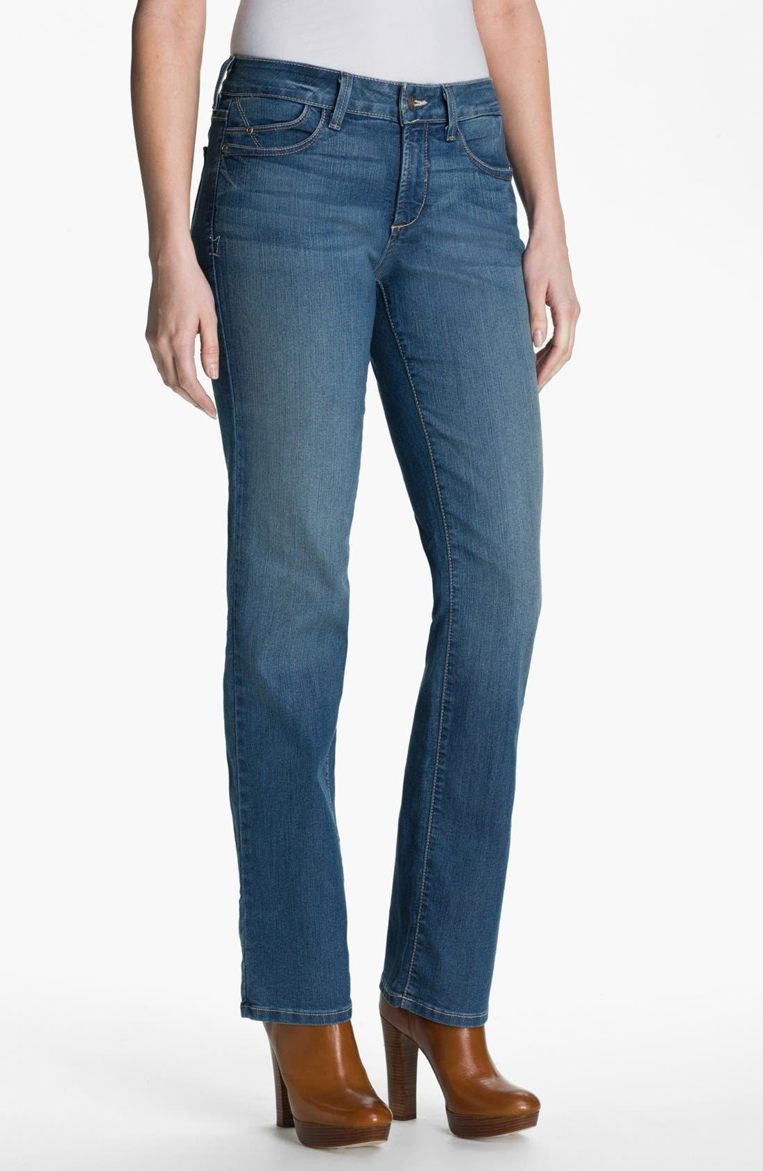 Main Image - NYDJ 'Marilyn' Straight Leg Stretch Jeans (Petite)