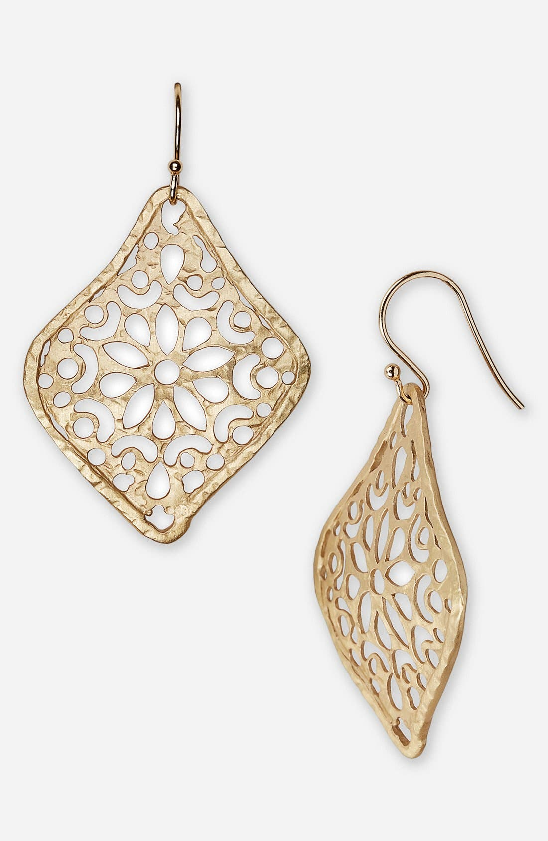 Alternate Image 1 Selected - Argento Vivo Diamond Shape Earrings