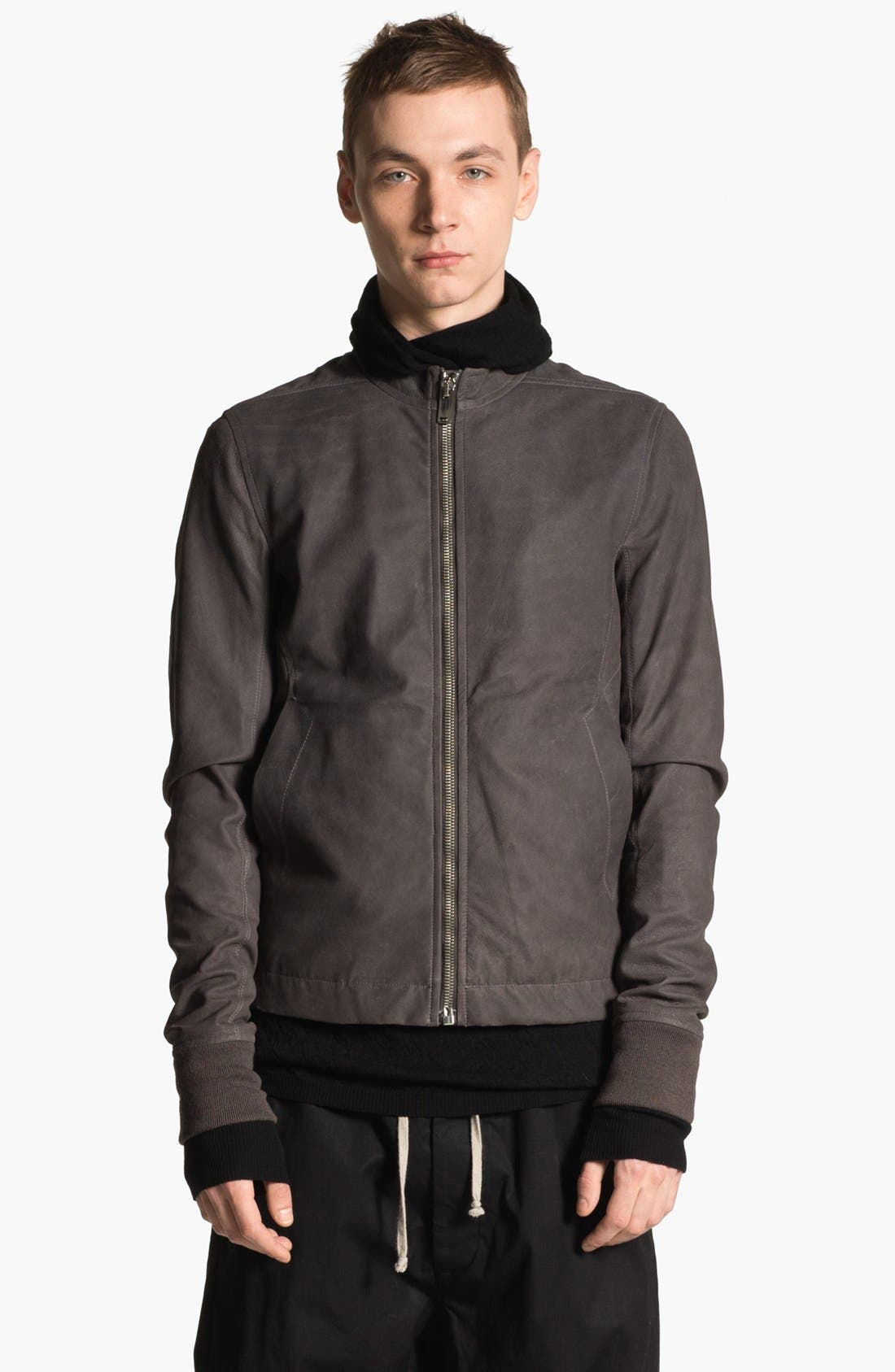 Alternate Image 1 Selected - Rick Owens 'Sternberg' Lambskin Leather Bomber Jacket