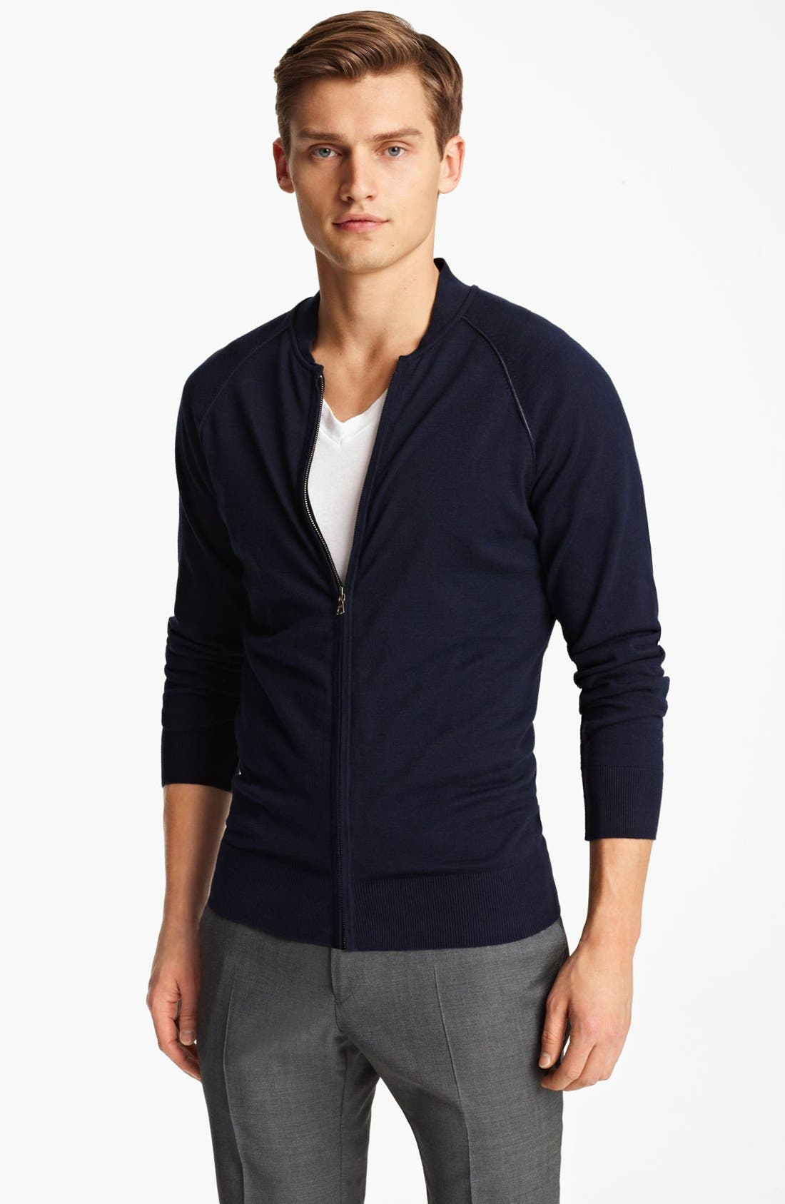 Alternate Image 1 Selected - PS Paul Smith Zip Cardigan