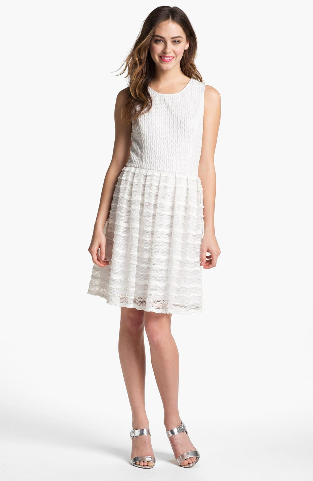 Alternate Image 1 Selected - Maggy London Textured Fit & Flare Dress
