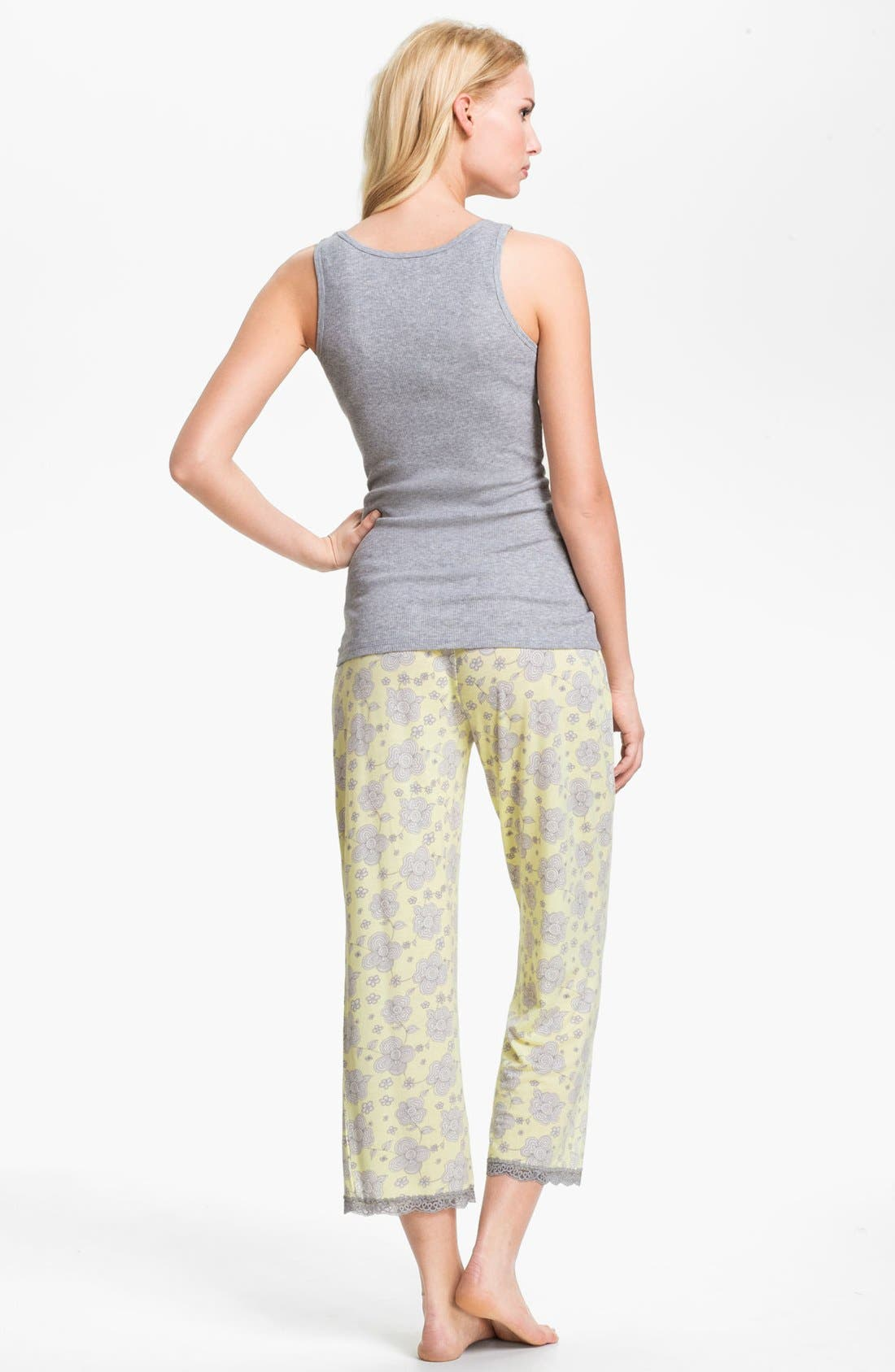 Alternate Image 4  - PJ Salvage Floral Knit Crop Lounge Pants